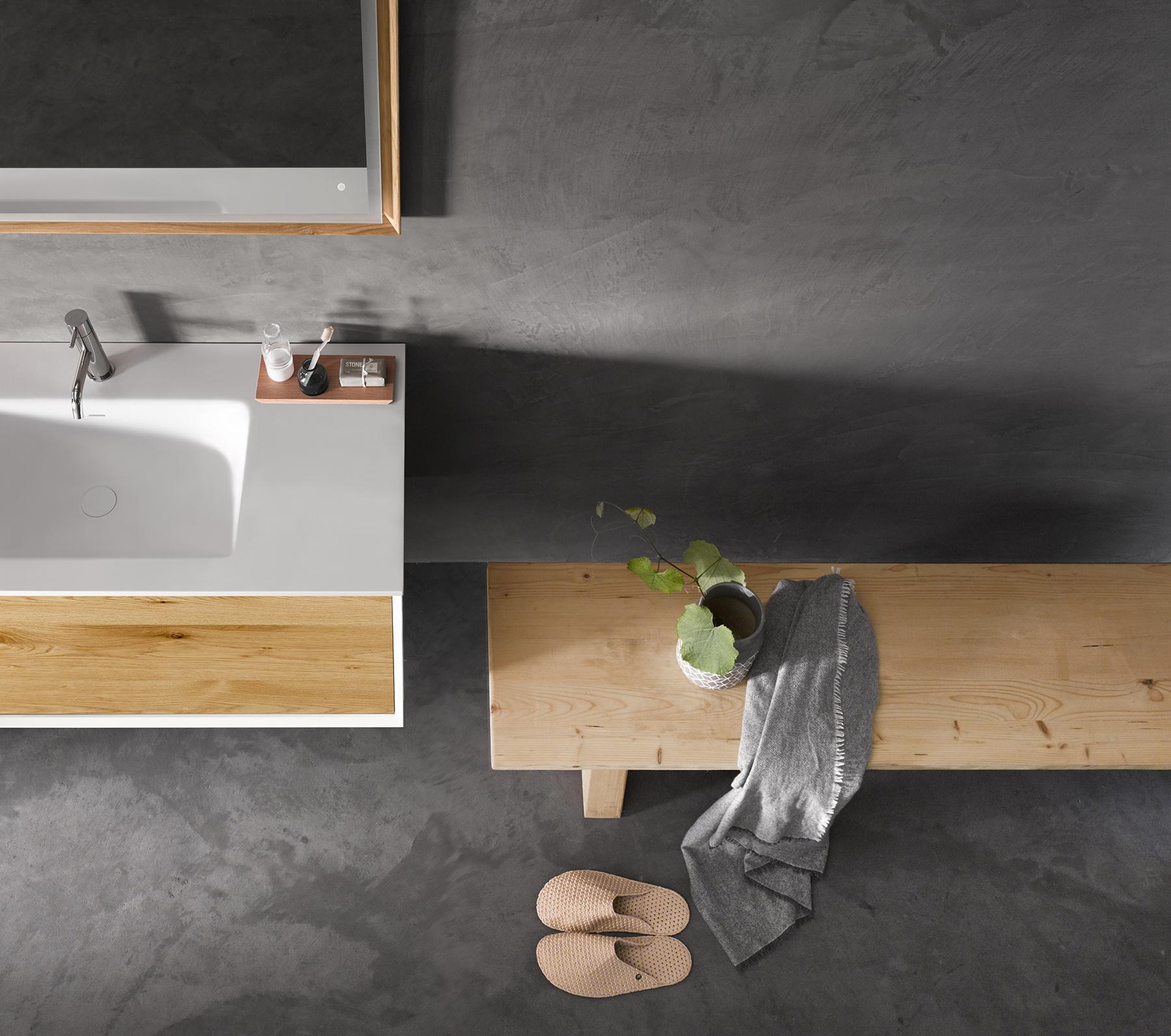 Modern 45 Degree Full Wall Mount Vanity Series 1200