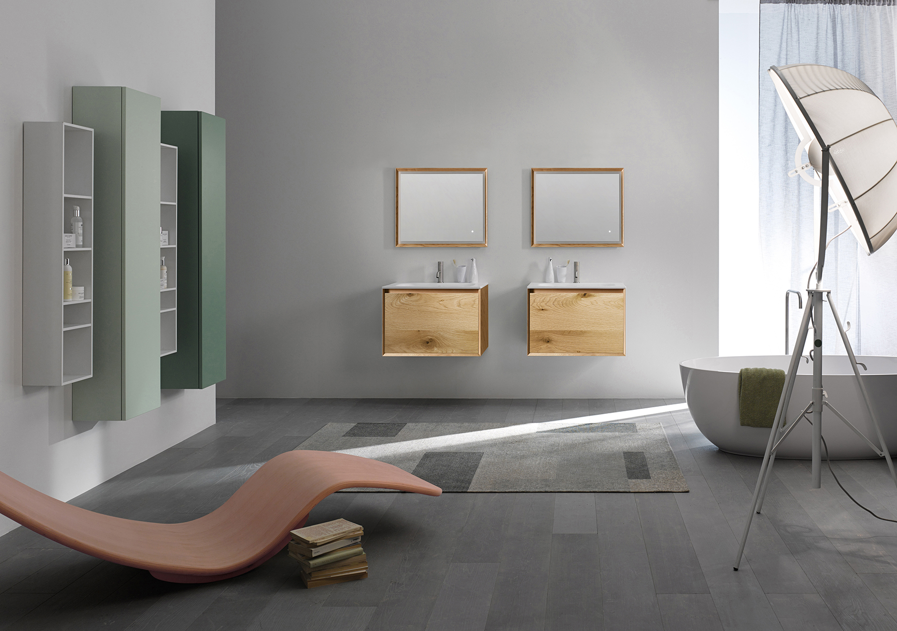 Modern 45 Degree Full Wall Mount Vanity Series 700