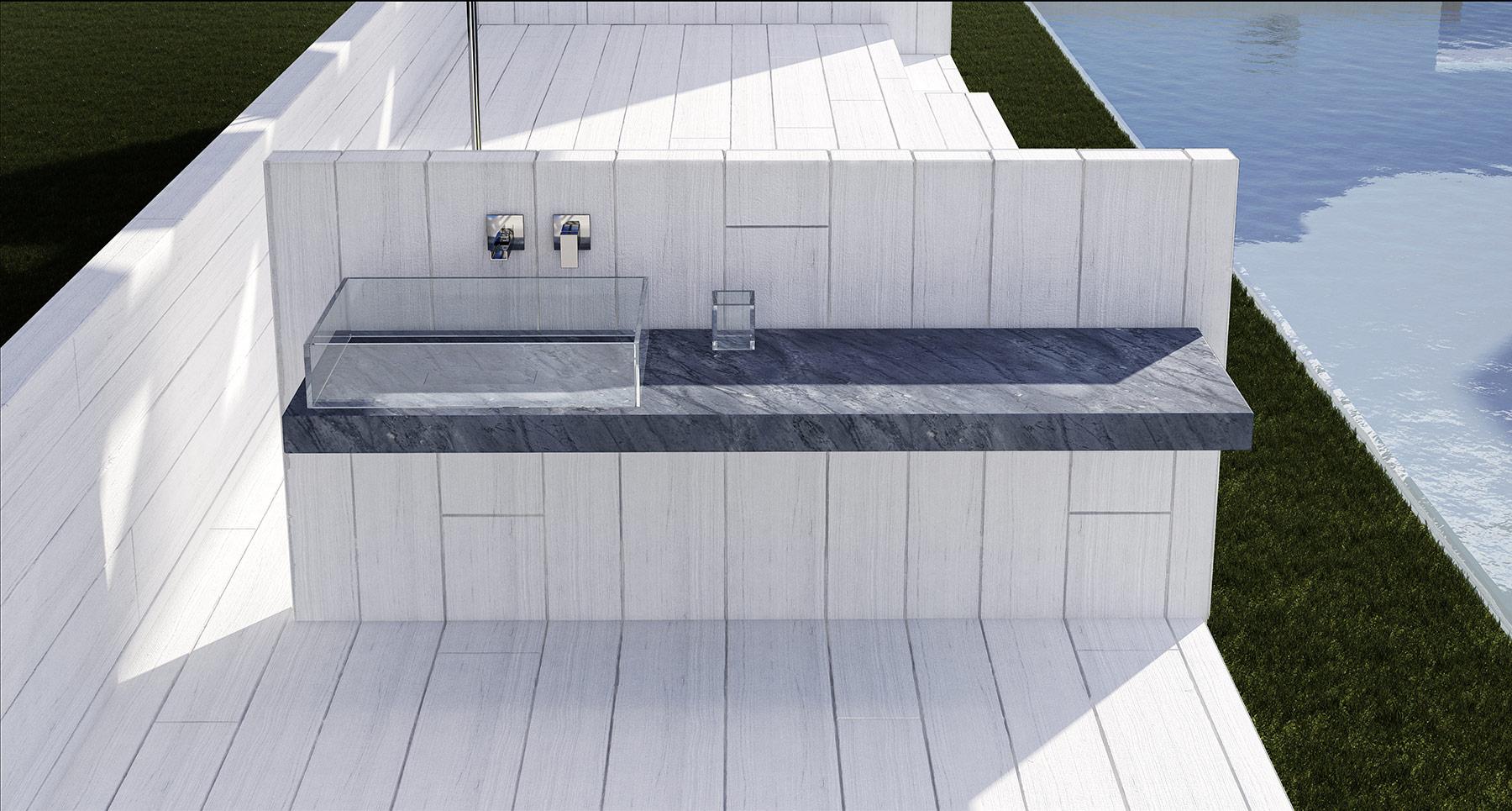 Modern Alma Wall Mounted Vanity Set