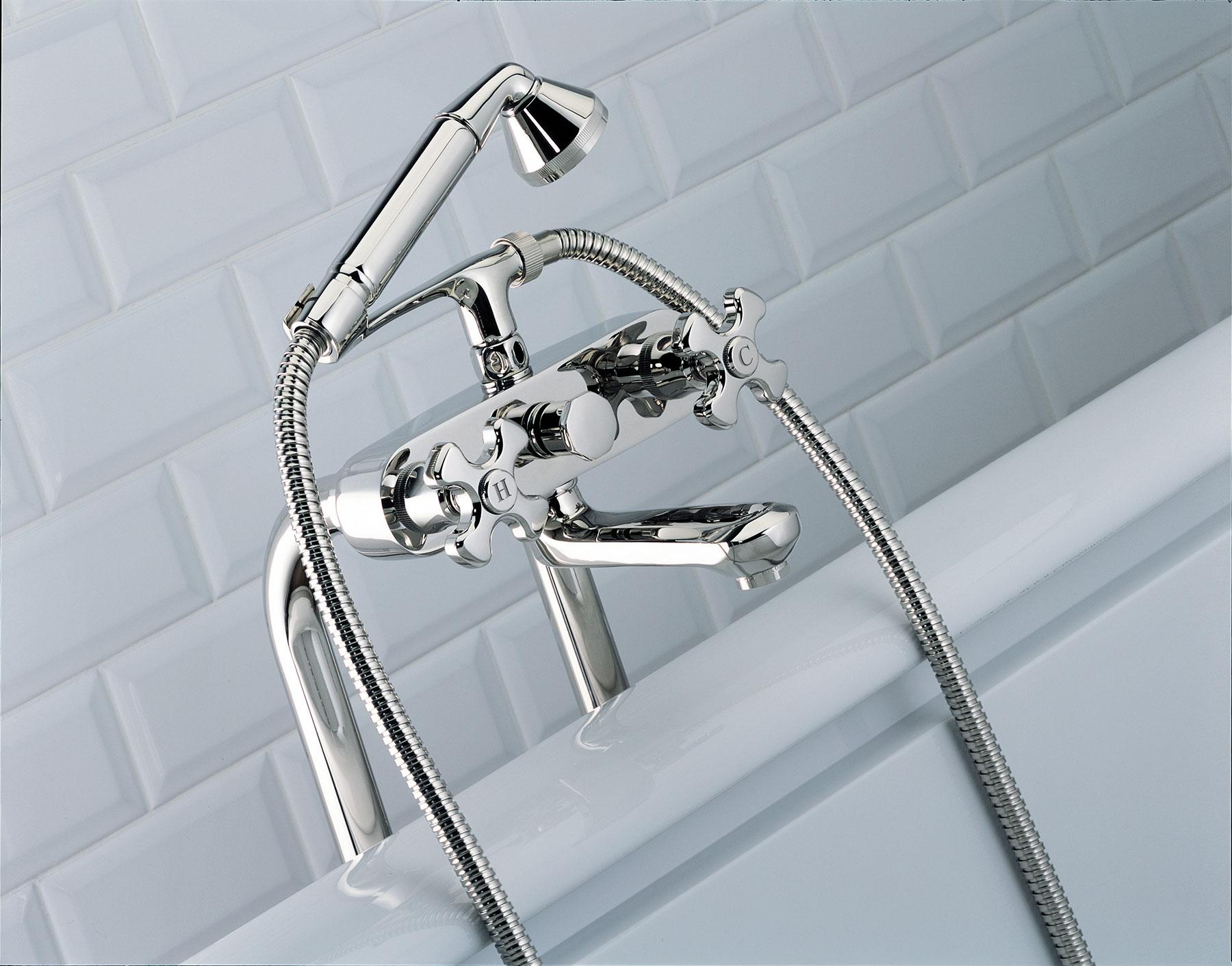 Traditional Art Deco Freestanding Tub & Shower Mixer
