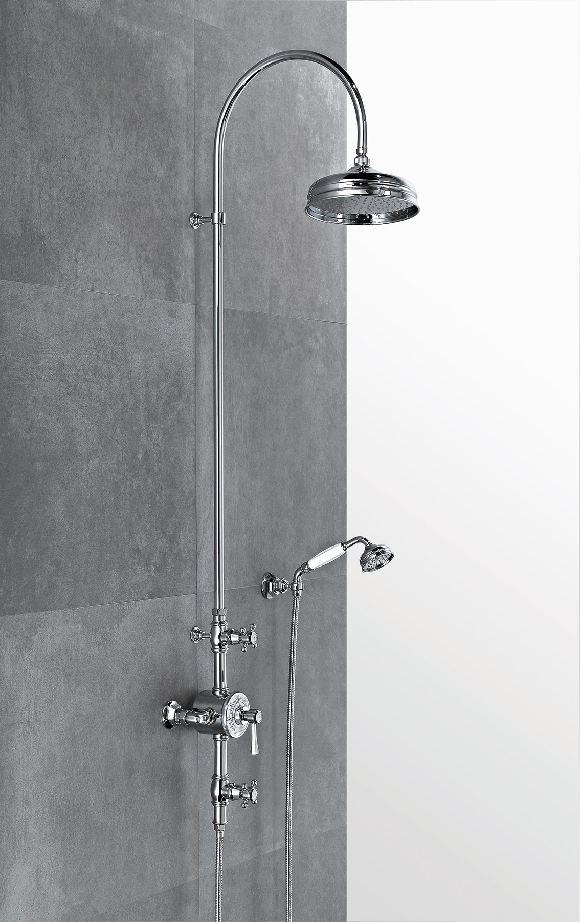 Traditional Ascott Wall Mount Shower Set