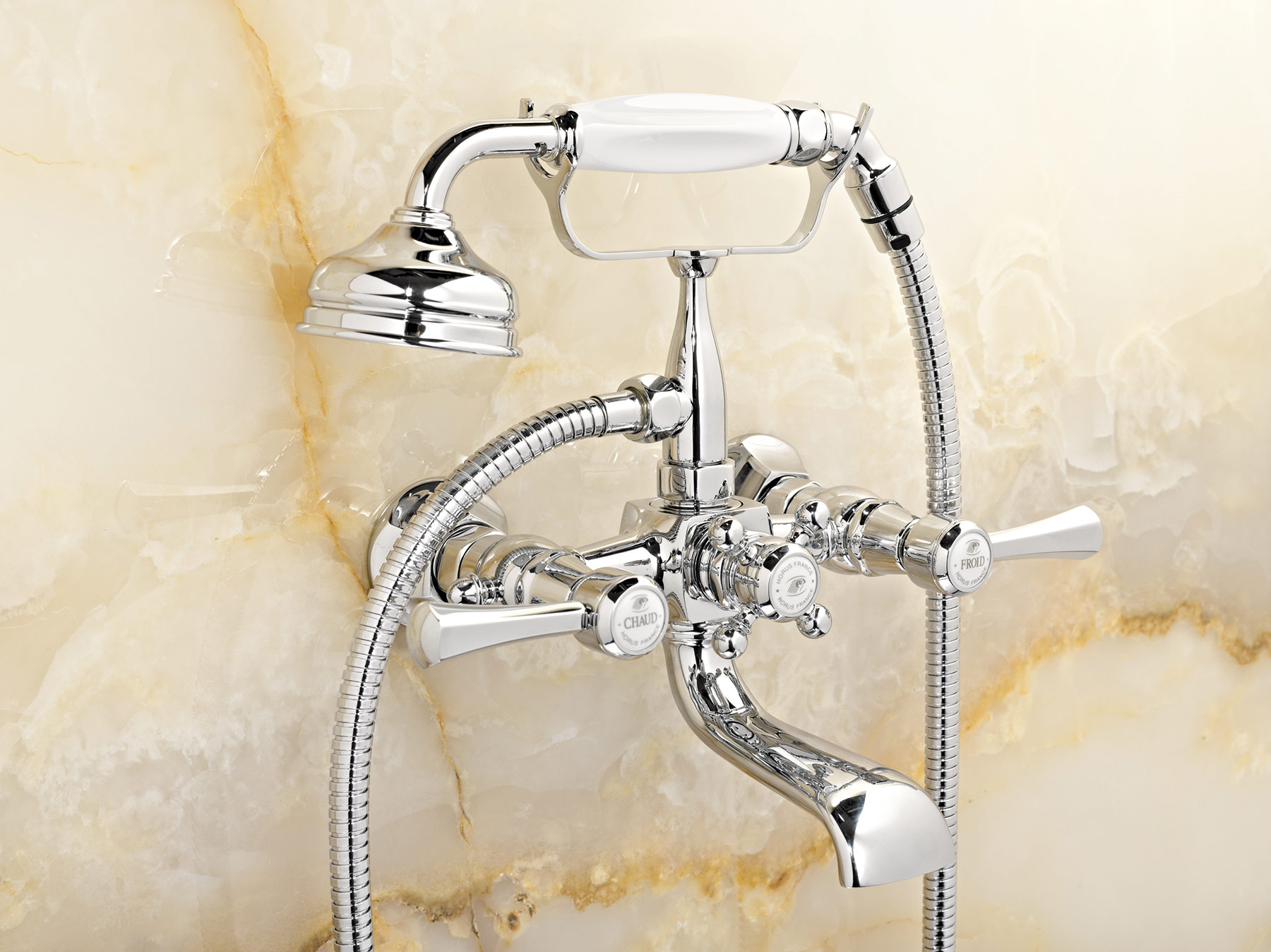 Traditional Ascott Wall Mount Tub Filler