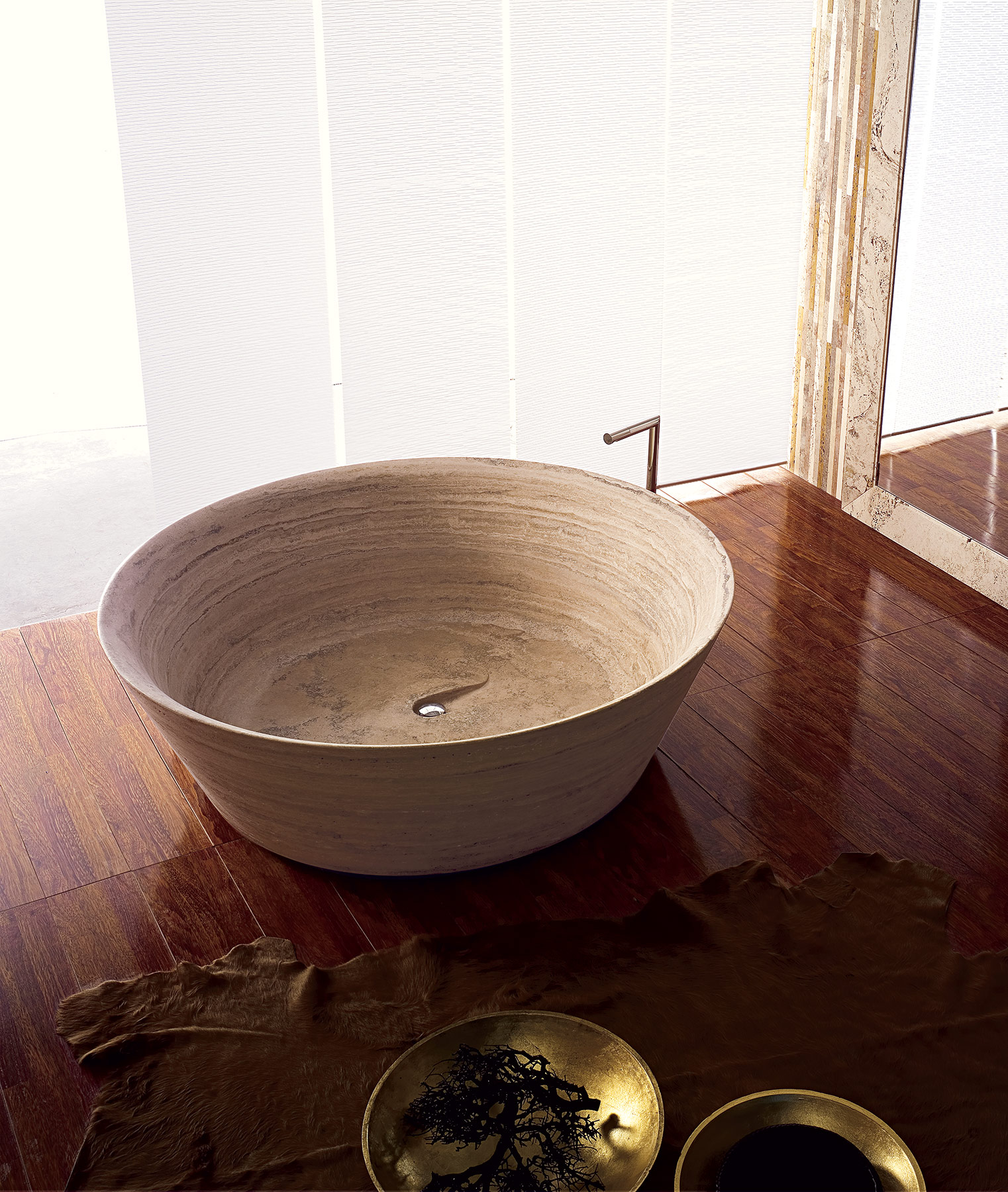 Transitional Beach Freestanding Bathtub
