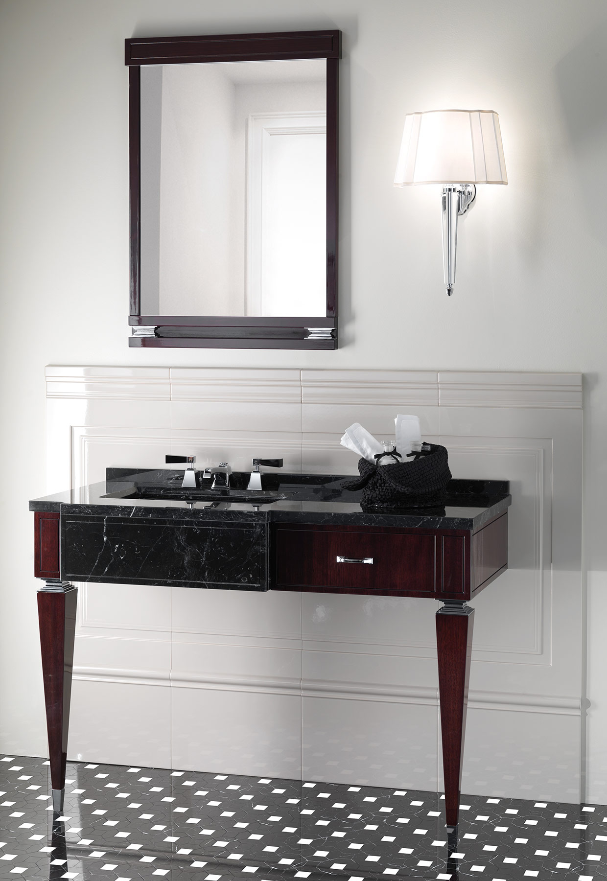 Transitional Bentley Wall Mounted Vanity Unit