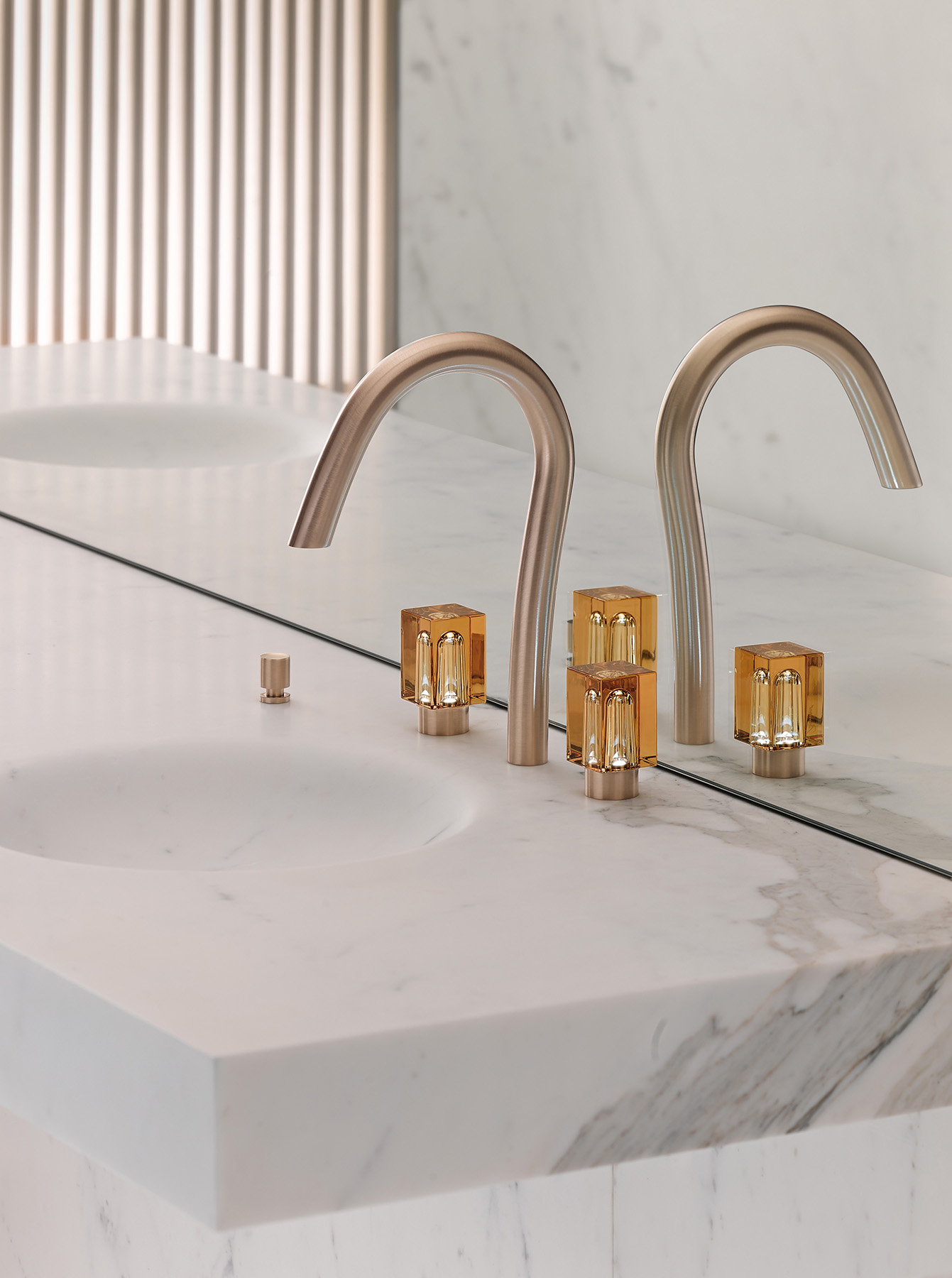 Contemporary Beyond Crystal Deck Mount Faucet