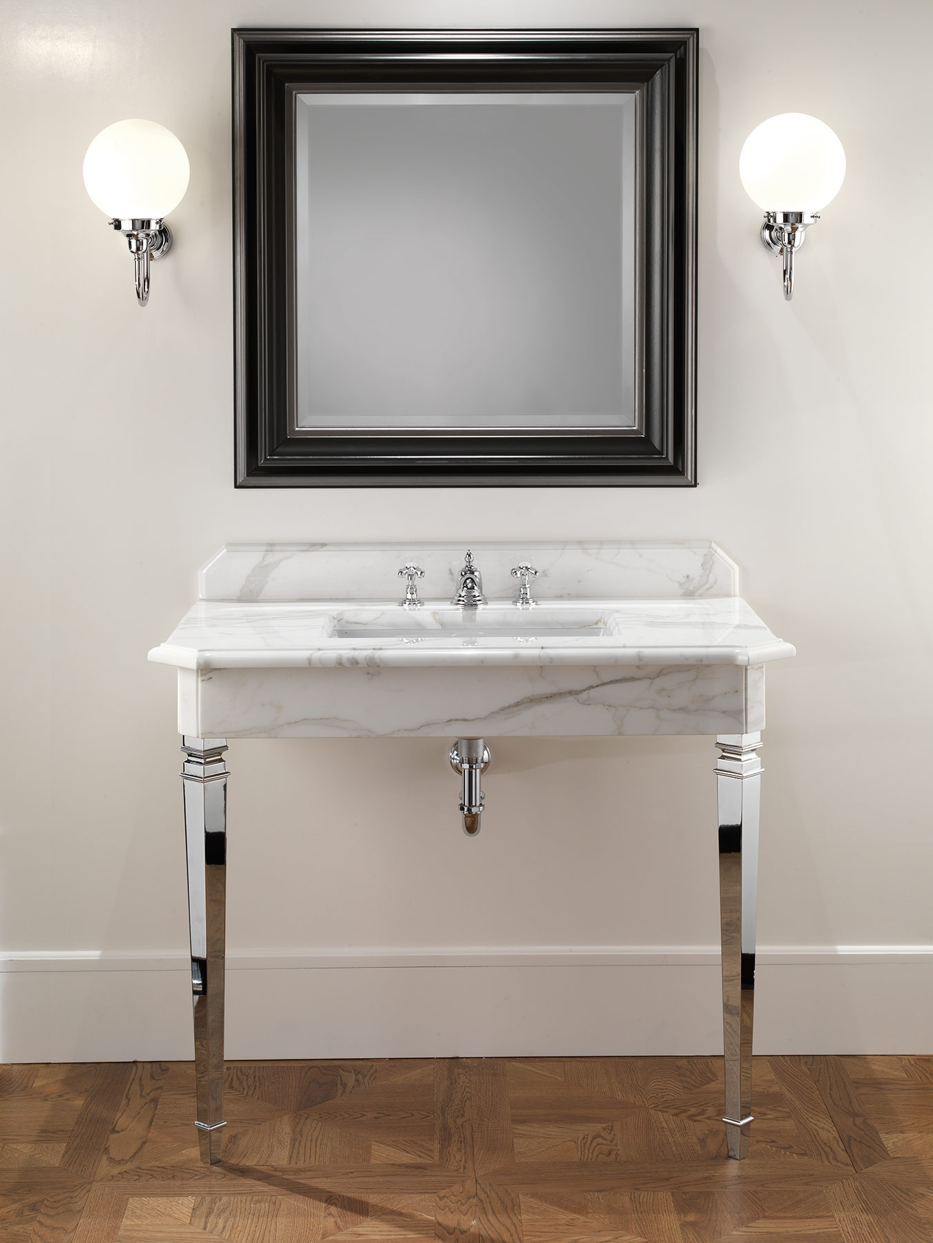 Transitional Black Harold Wall Mount Mirror