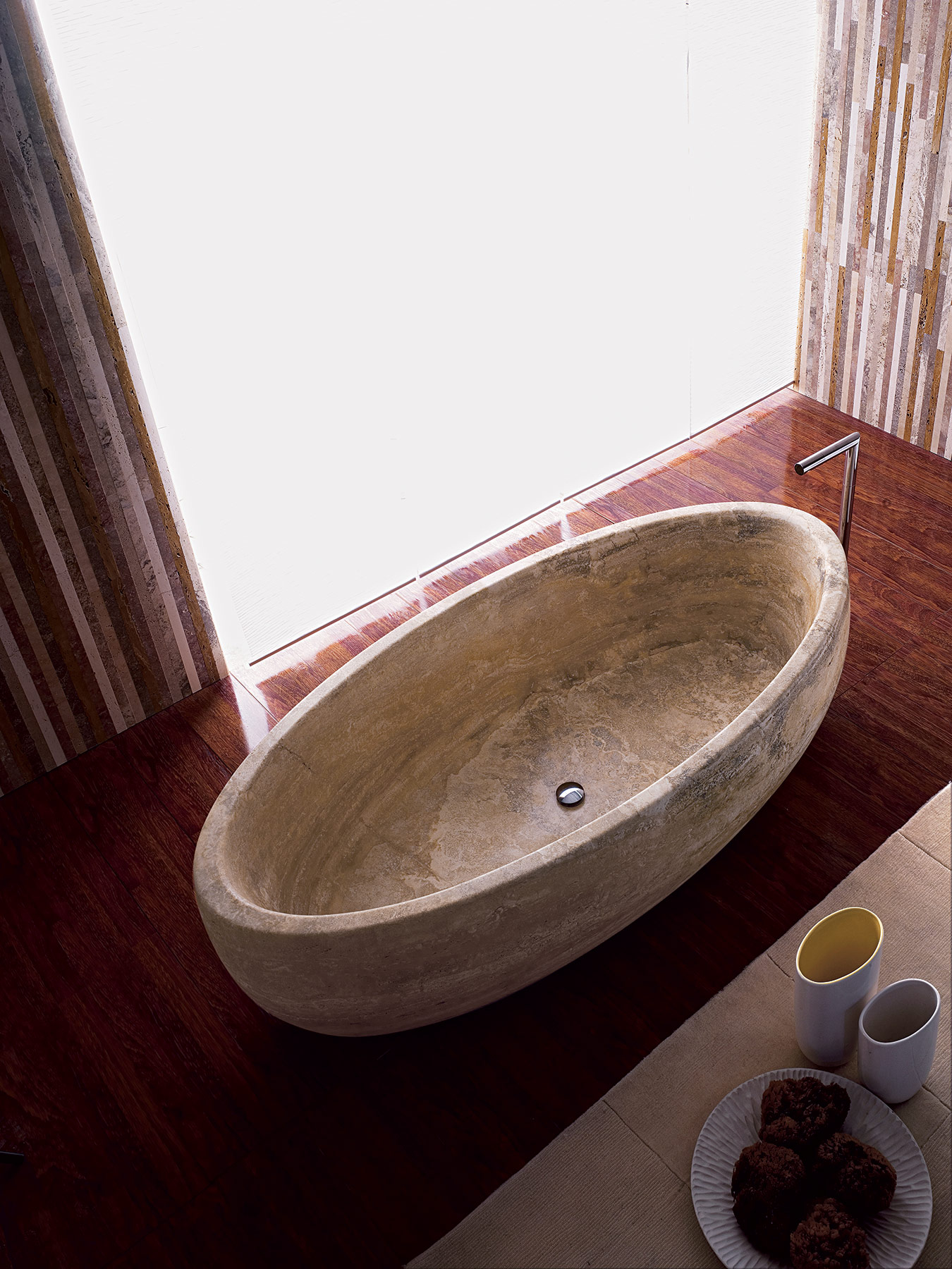 Transitional Boat Freestanding Bathtub