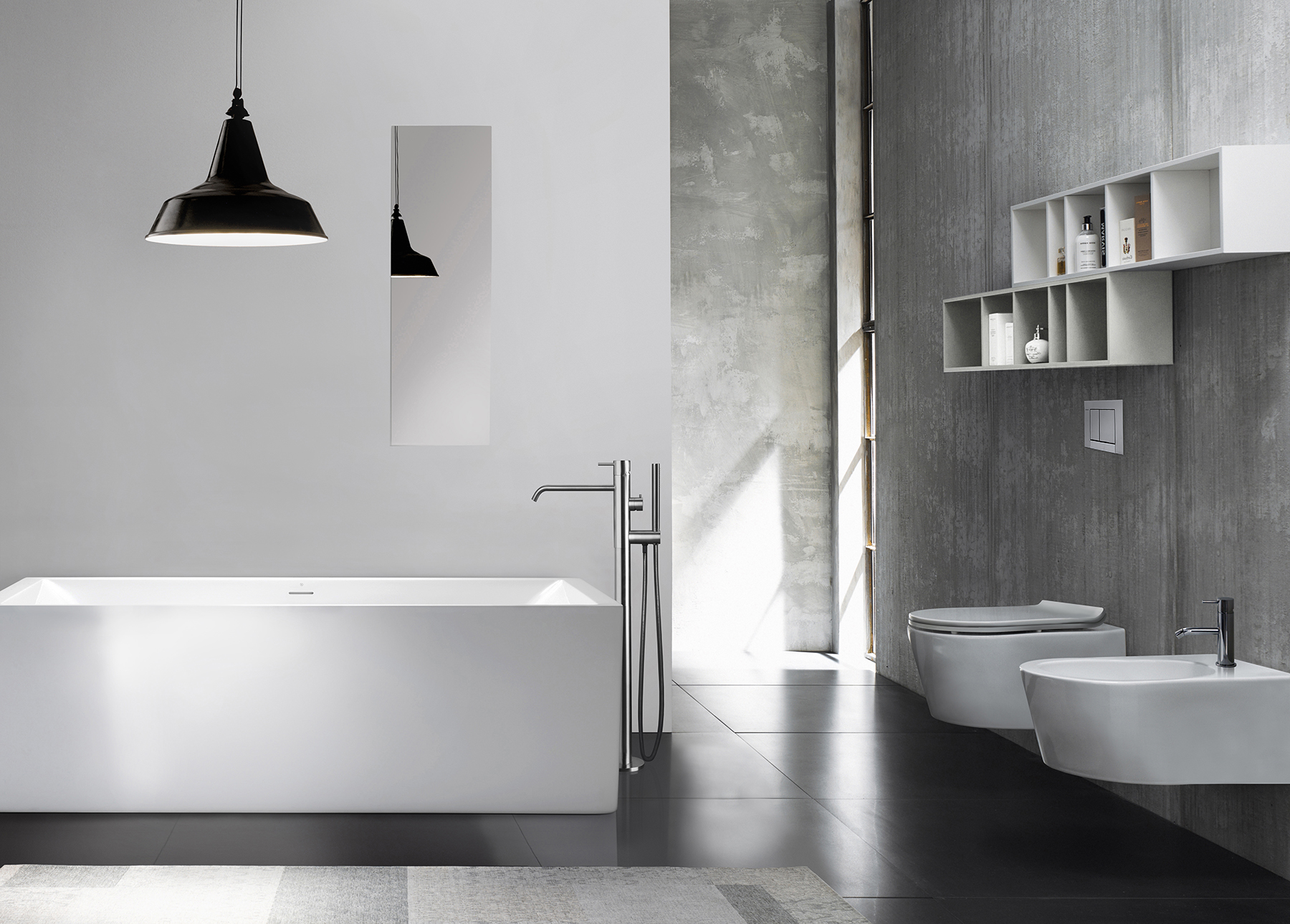 Modern Box Freestanding Rectangular Bathtub