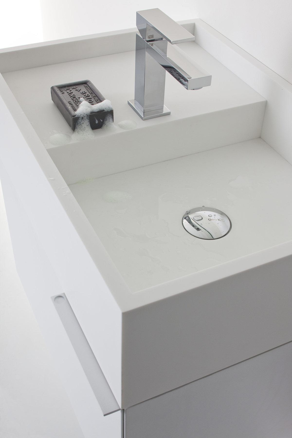 Modern C-Design Cabinet Mounted Washbasin