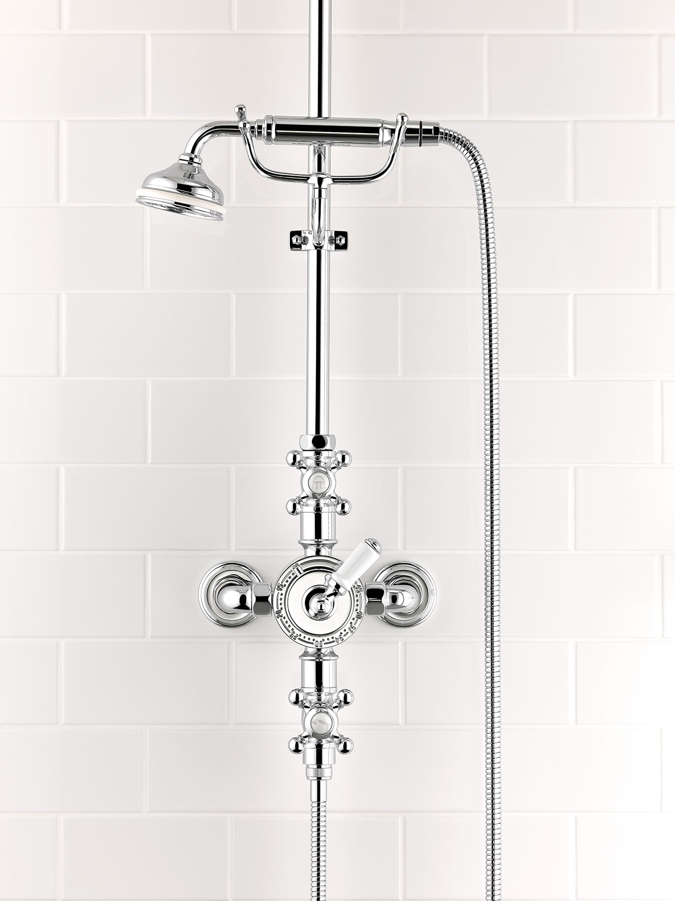 Traditional Charleston Wall Mount Shower Set