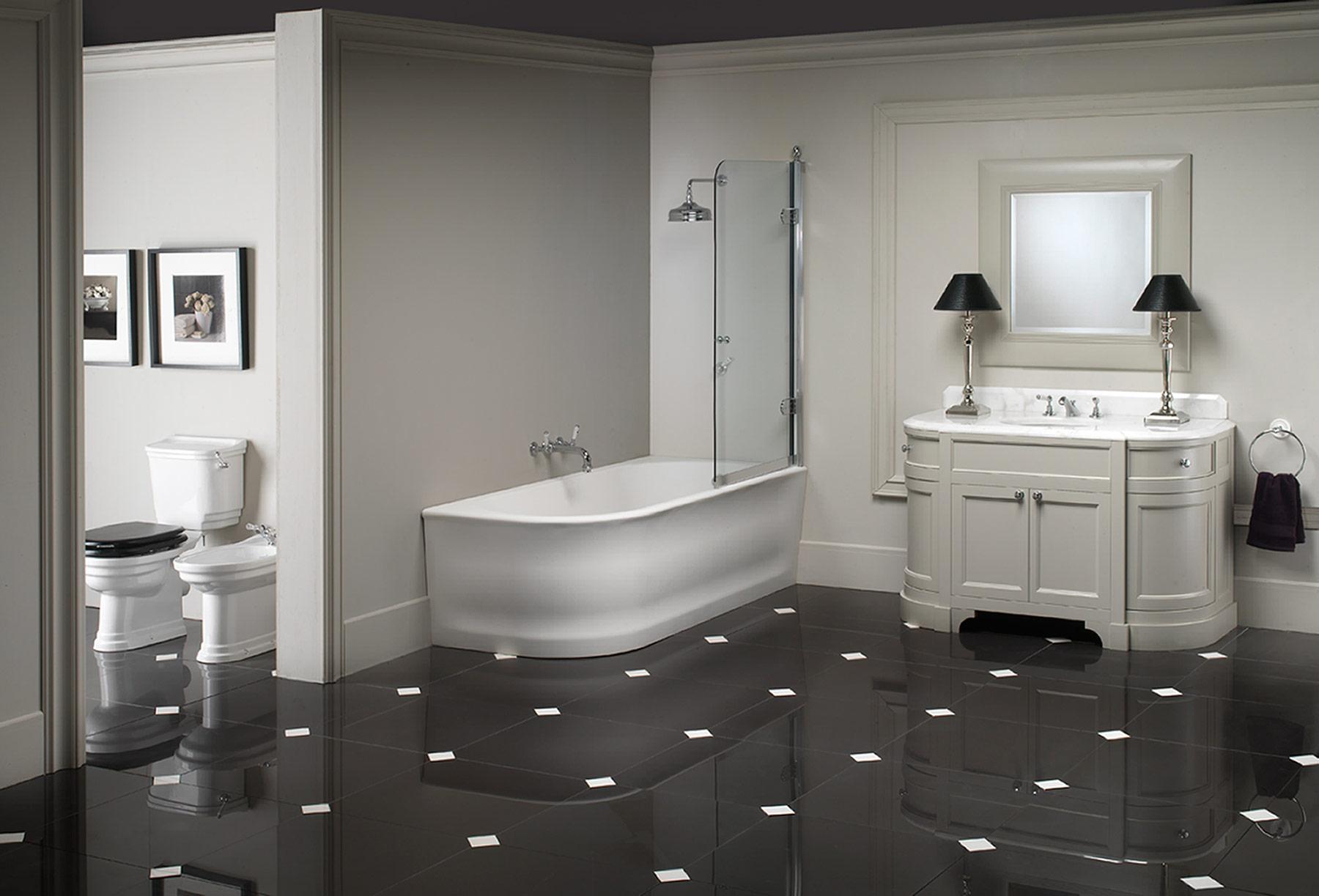 Traditional Classica Floor Mount Toilet Set