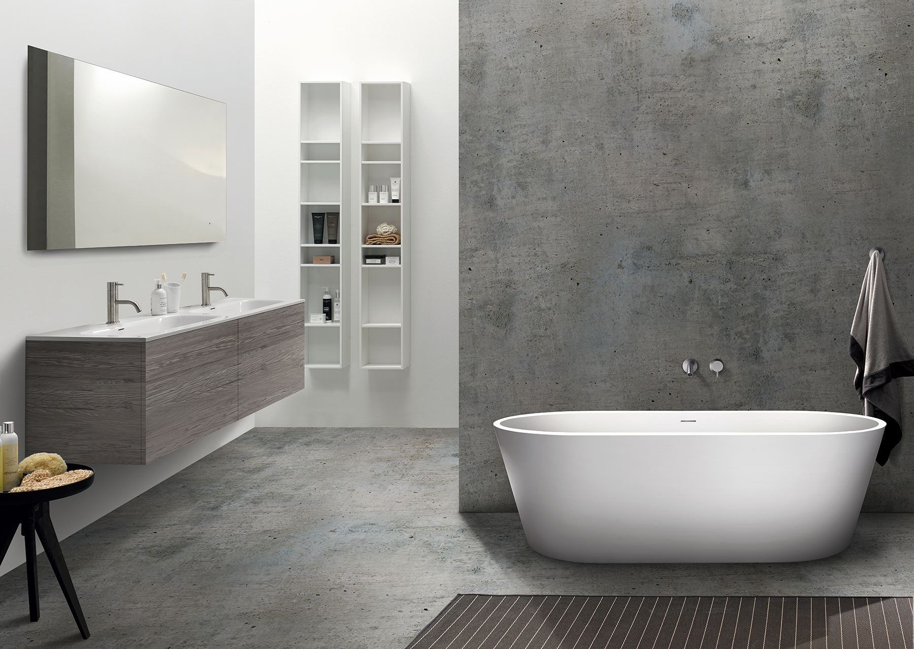Modern Coco Freestanding Oval Bathtub