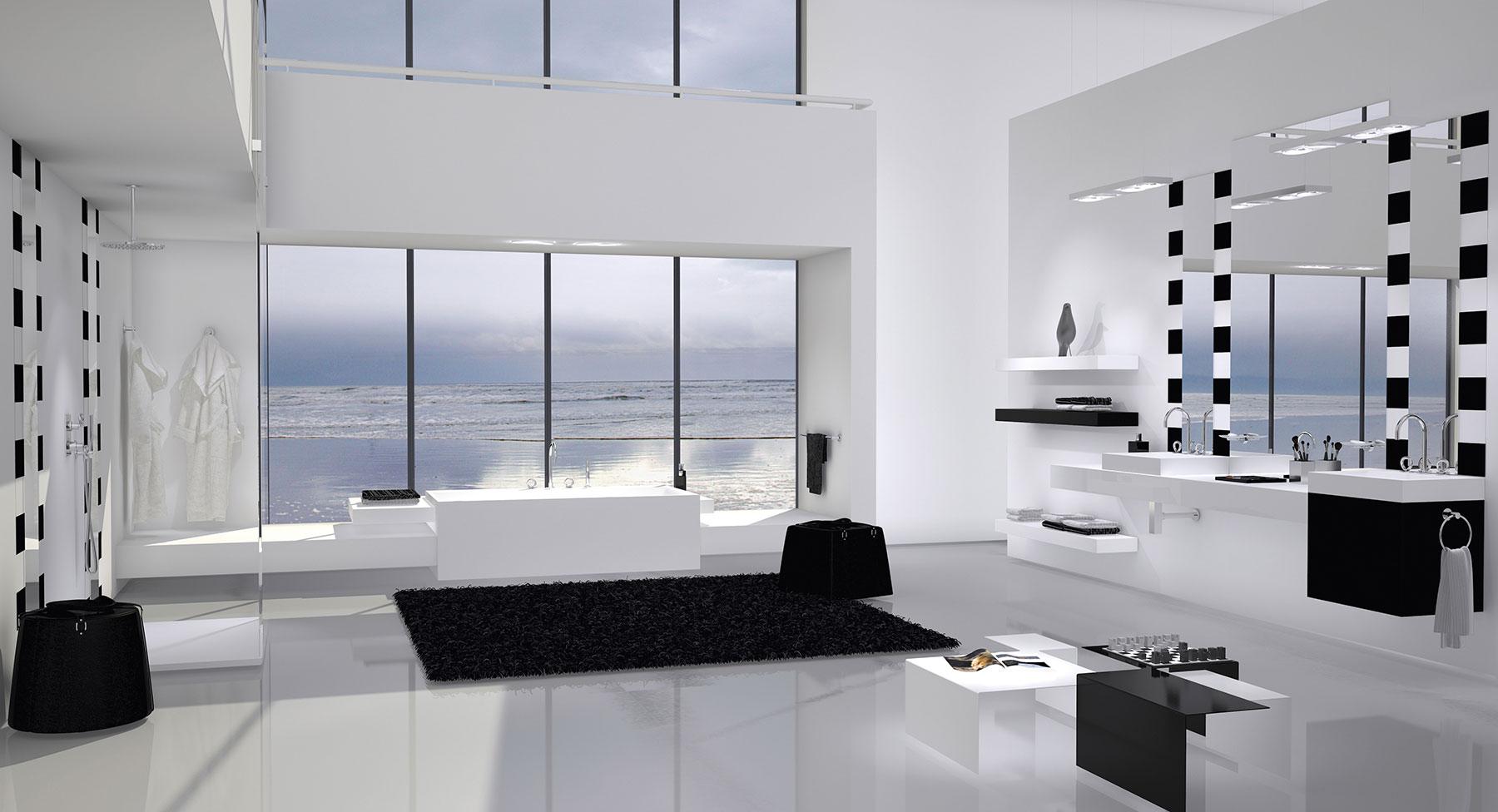 Contemporary Collection O Deck Mount Faucet