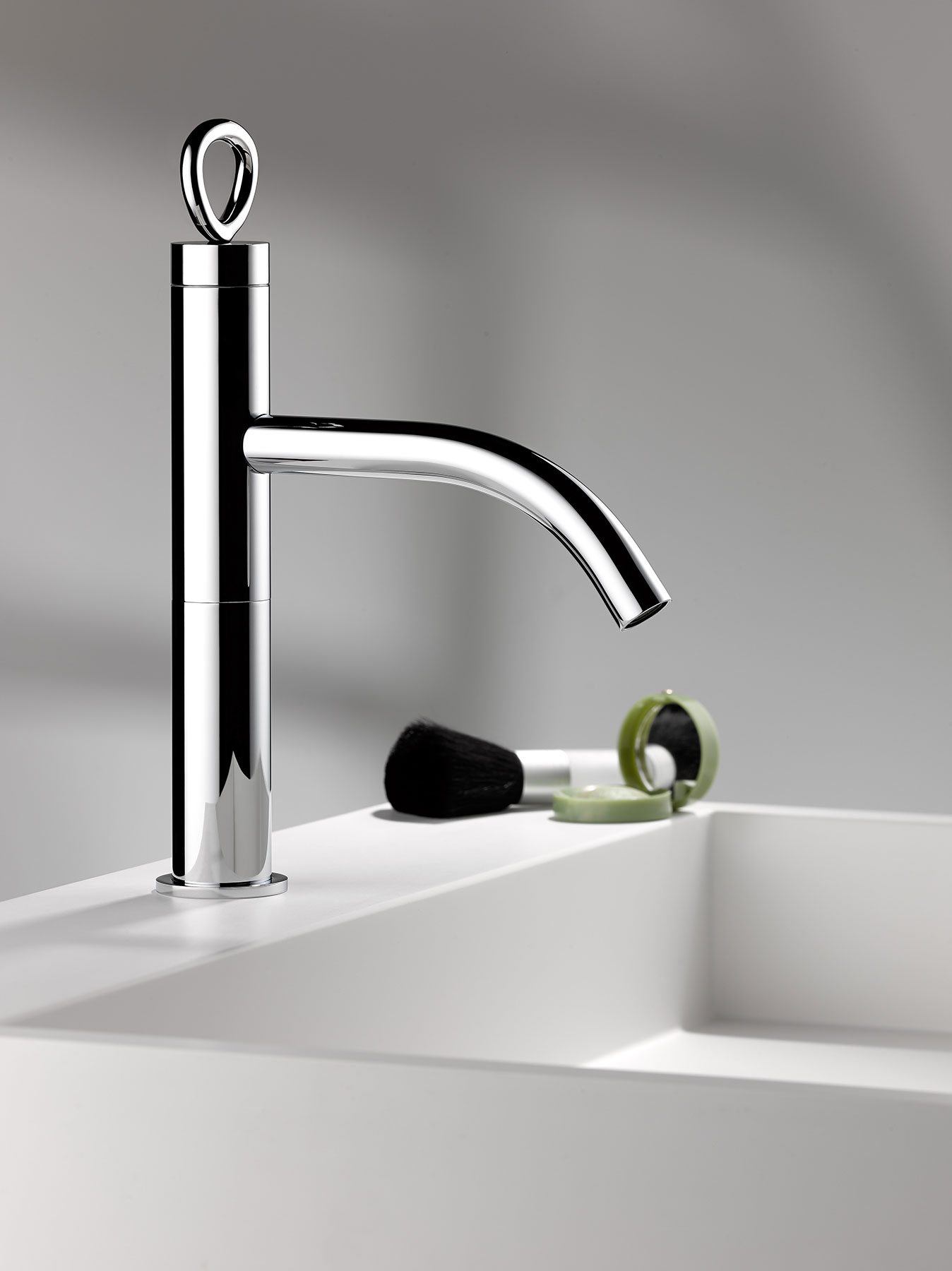 Modern Collection O Deck Mount Faucet