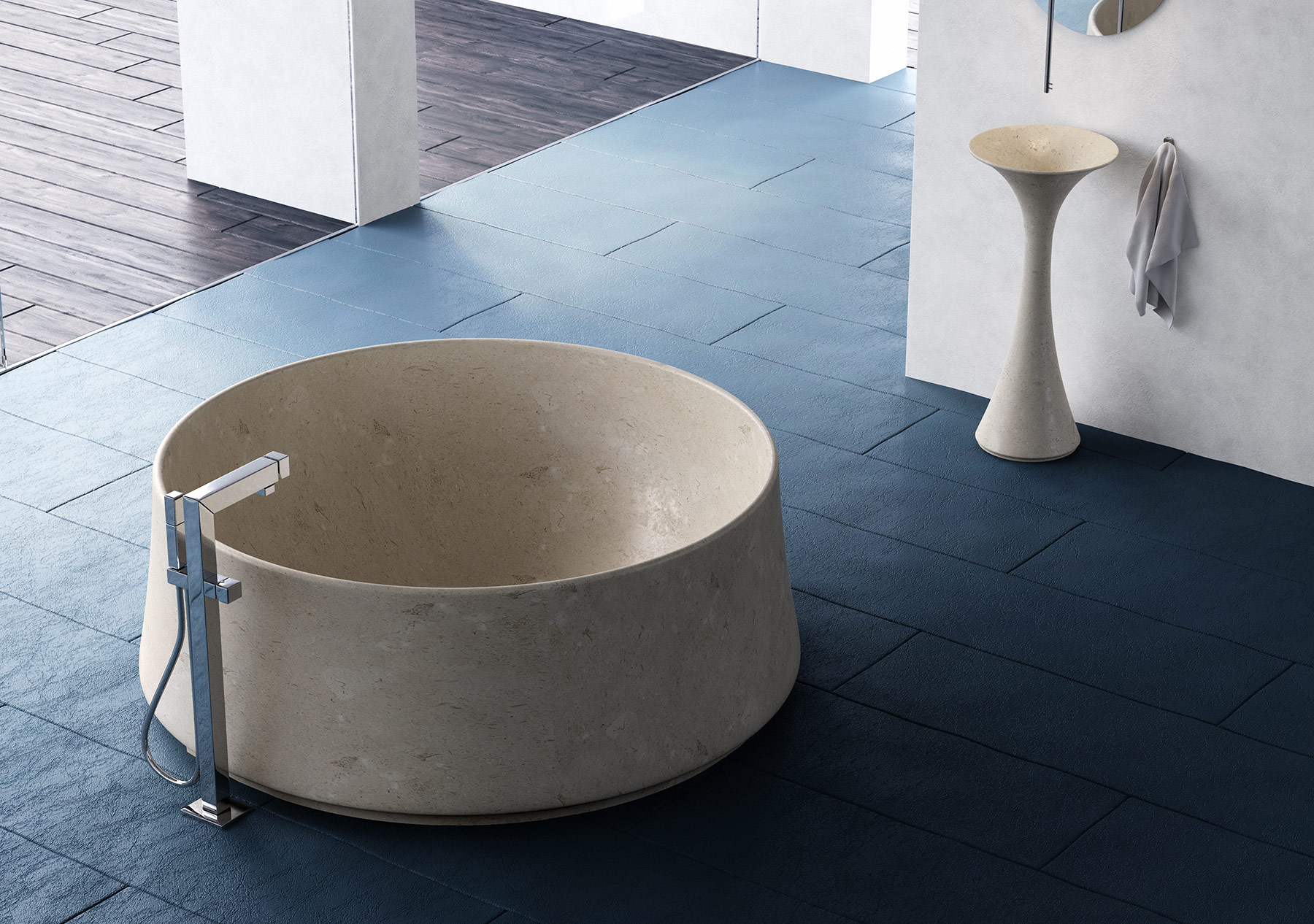 Modern Cratere Freestanding Bathtub