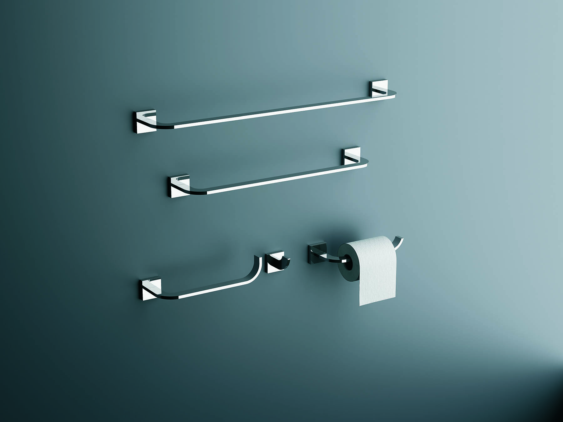 Domino Wall Mount Towel Bar