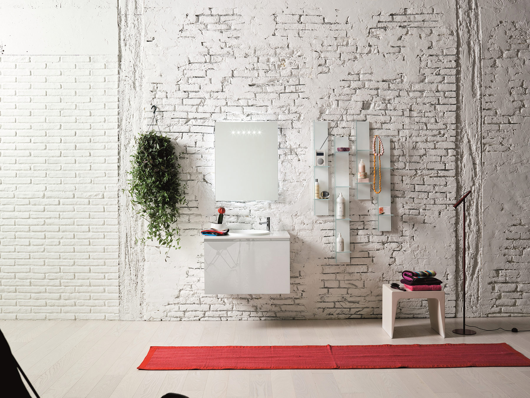 Contemporary Domino Wall Mount Vanity Unit