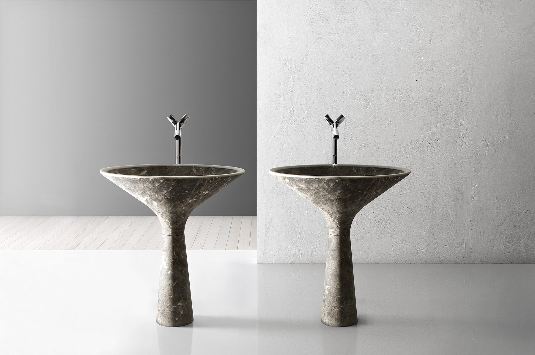 Transitional Dry Floor Mount Washbasin