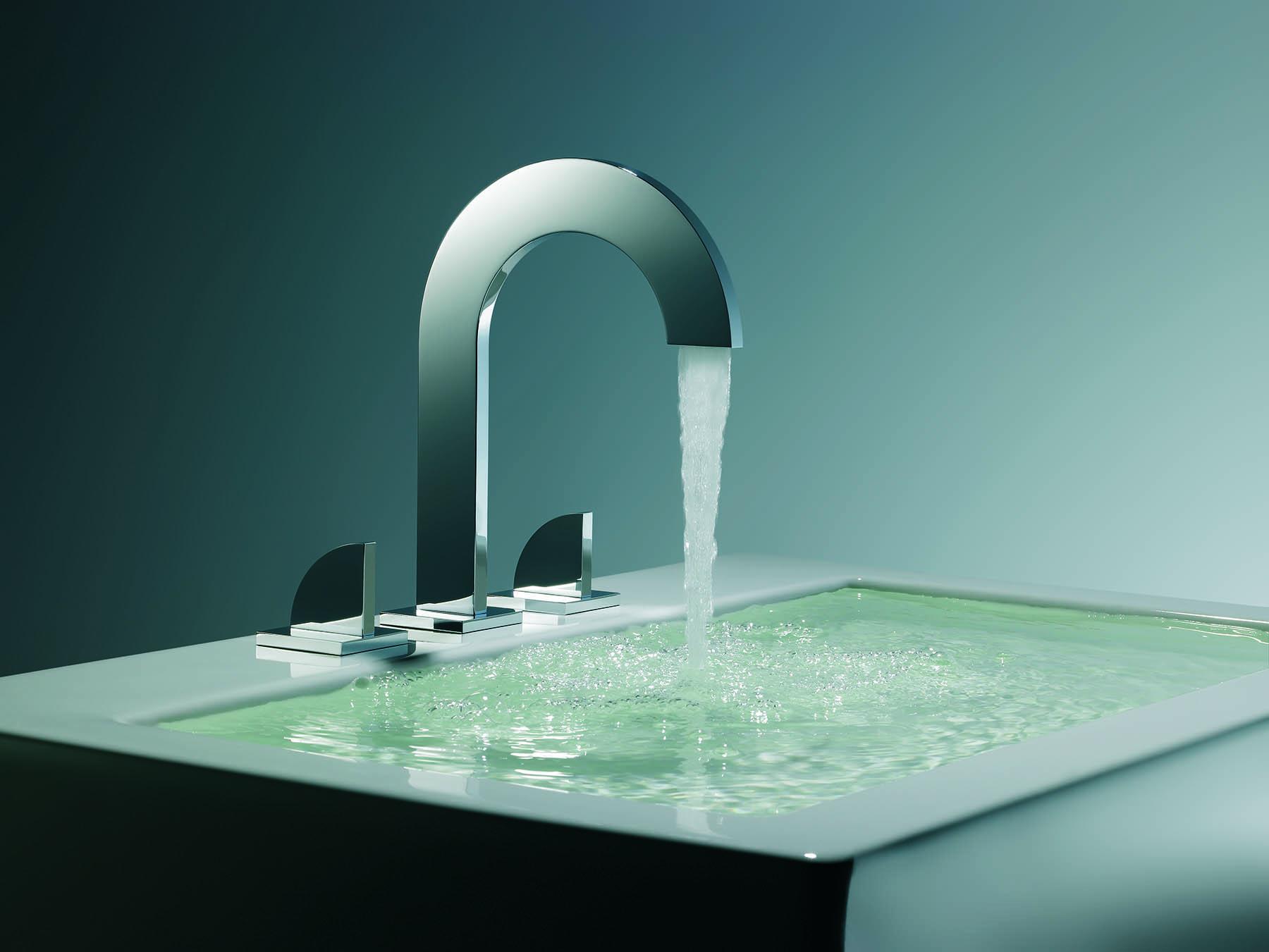 Modern Edge Deck Mount Faucet