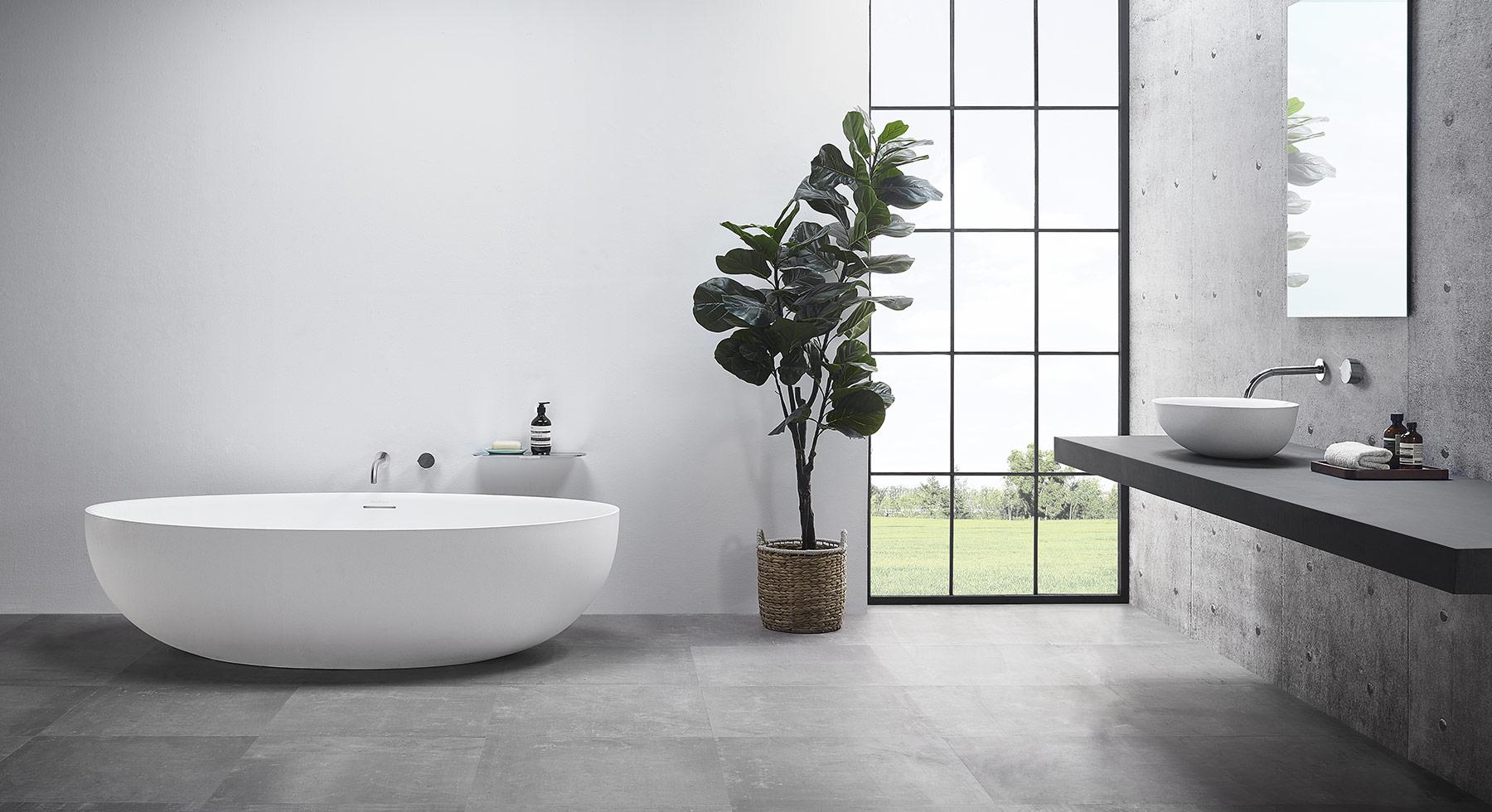 Modern Ellipse Freestanding Bathtub