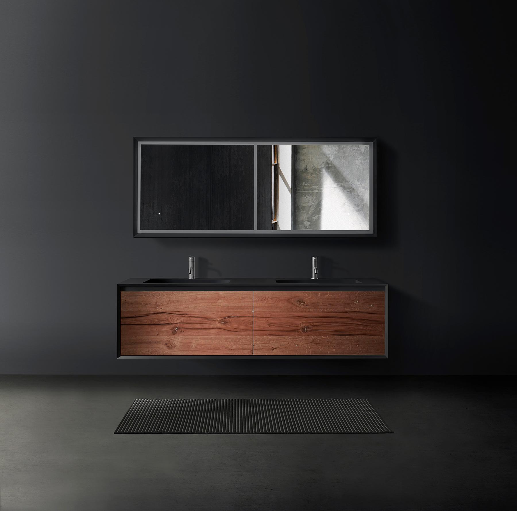 Modern Fenix Wall Mounted Double Vanity