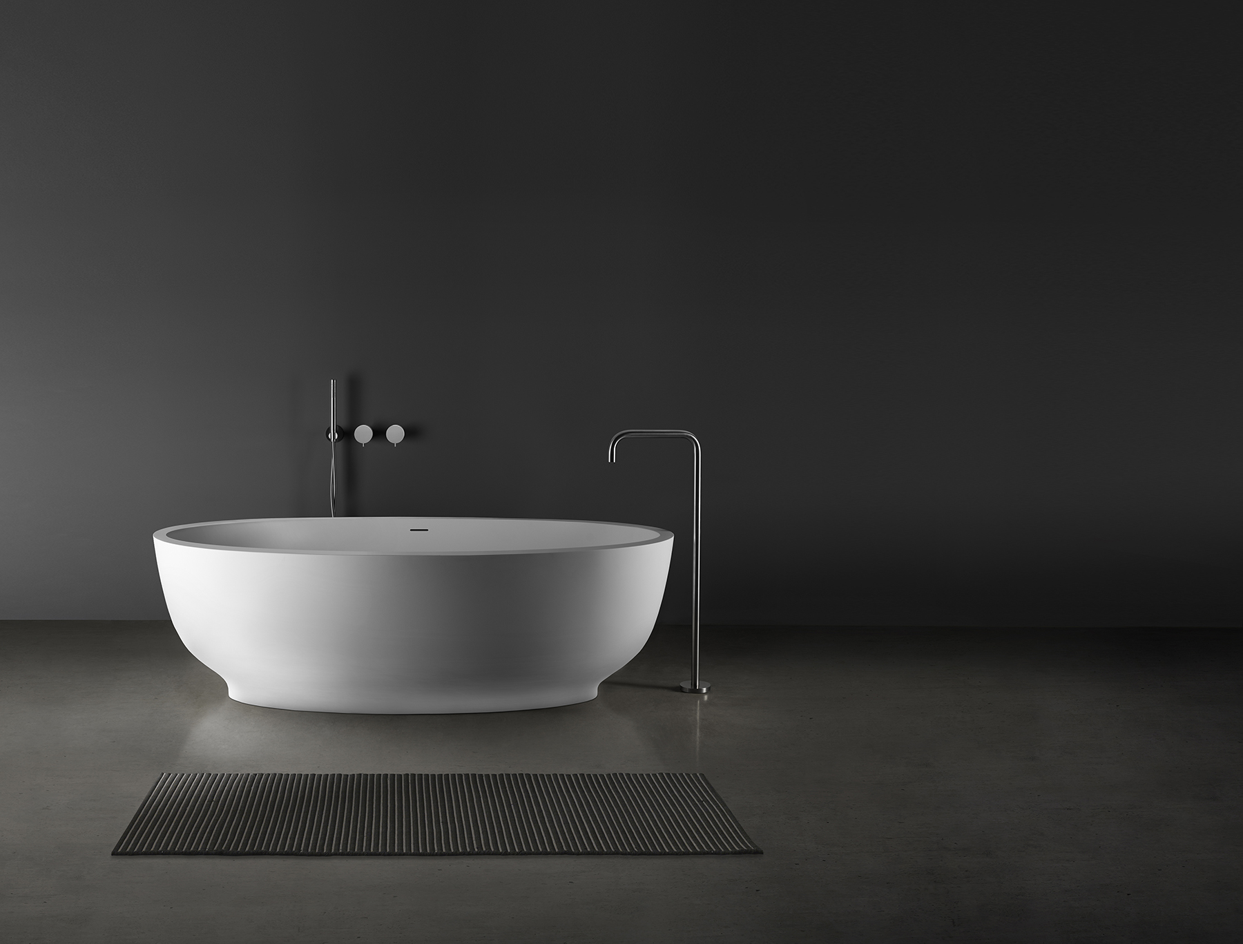Modern Fini Freestanding Oval Bathtub