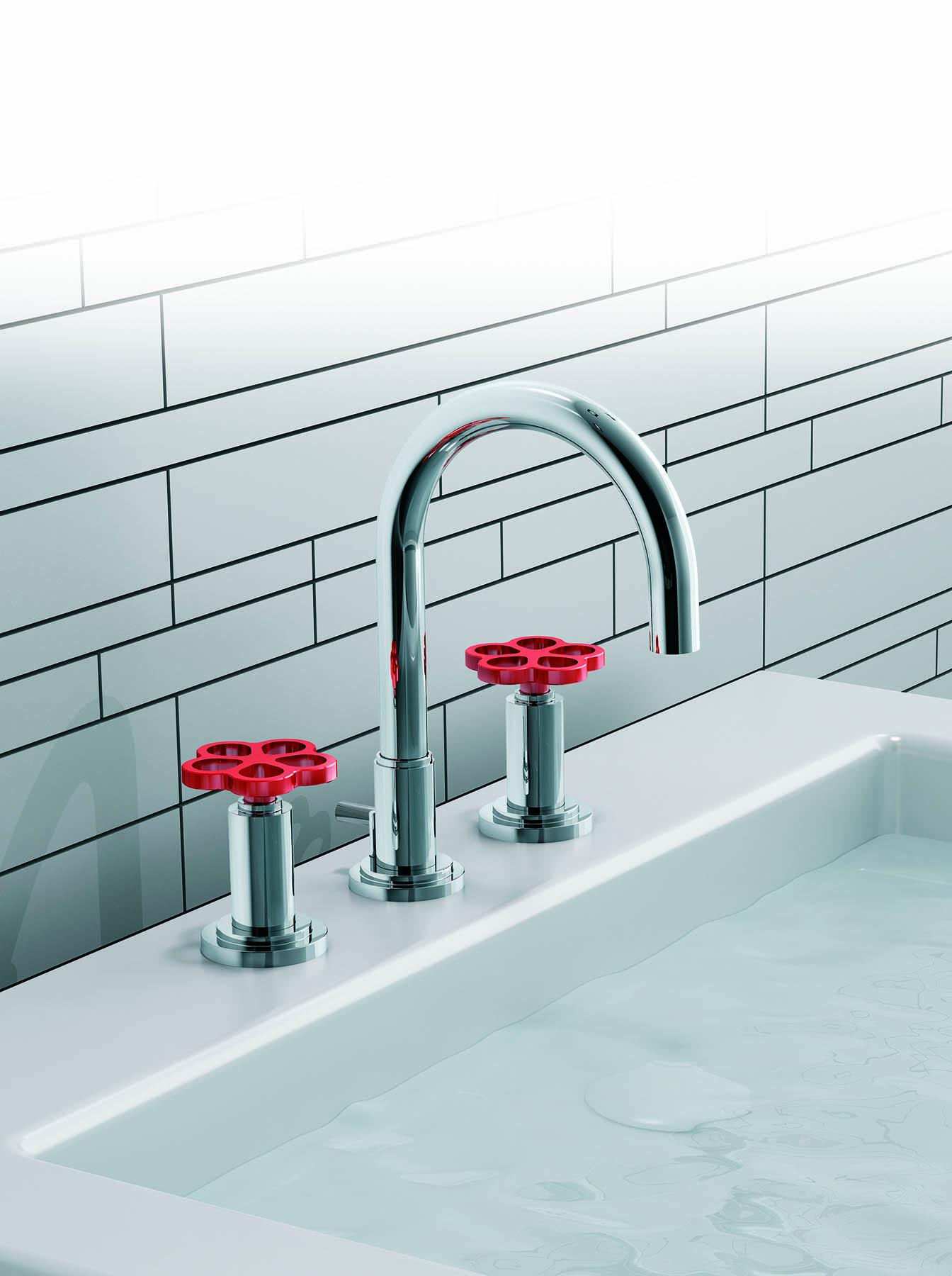 Industrial Chic Deck Mount Faucet