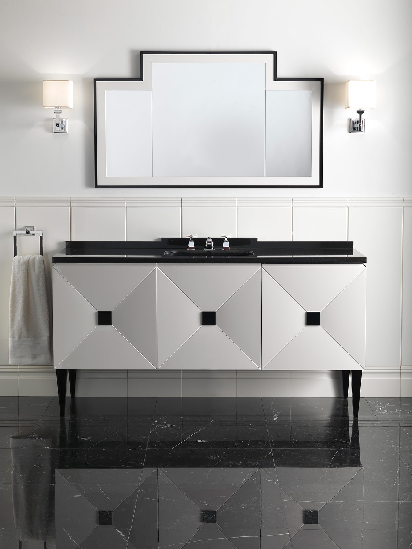 Transitional Jetset Floor Mount Vanity Unit