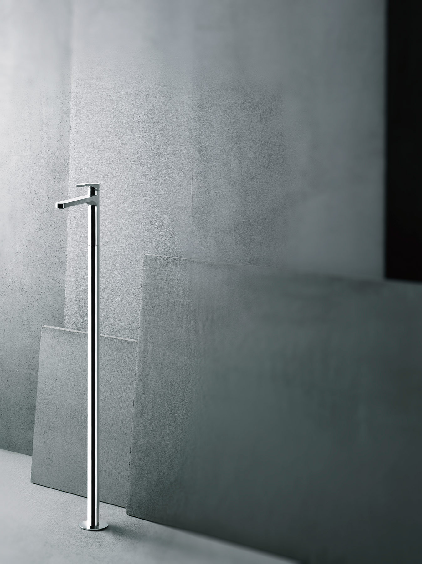 Transitional Lissoni Floor Mount Faucet