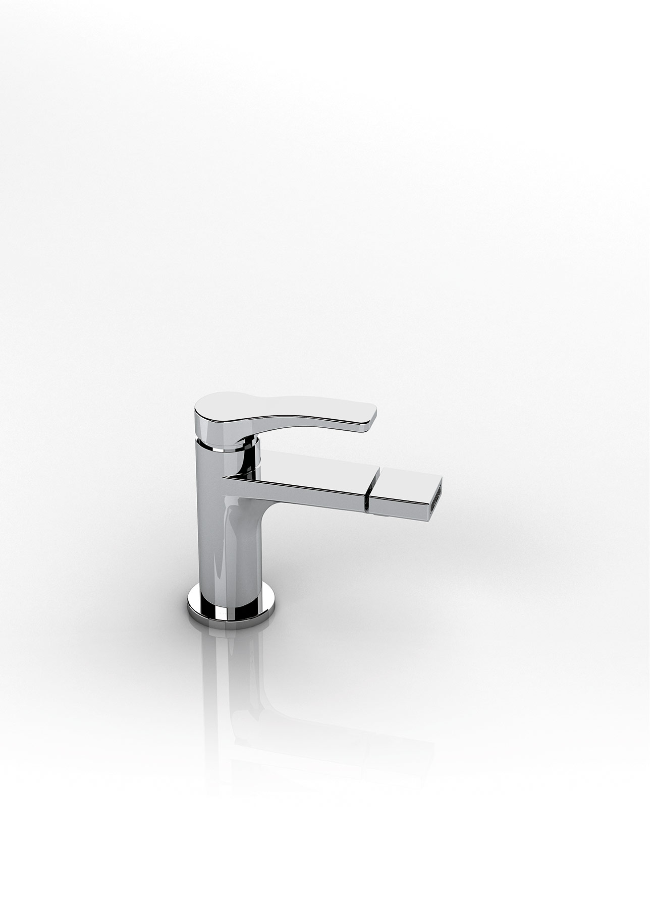 Transitional Lissoni Deck Mount Bidet Faucet