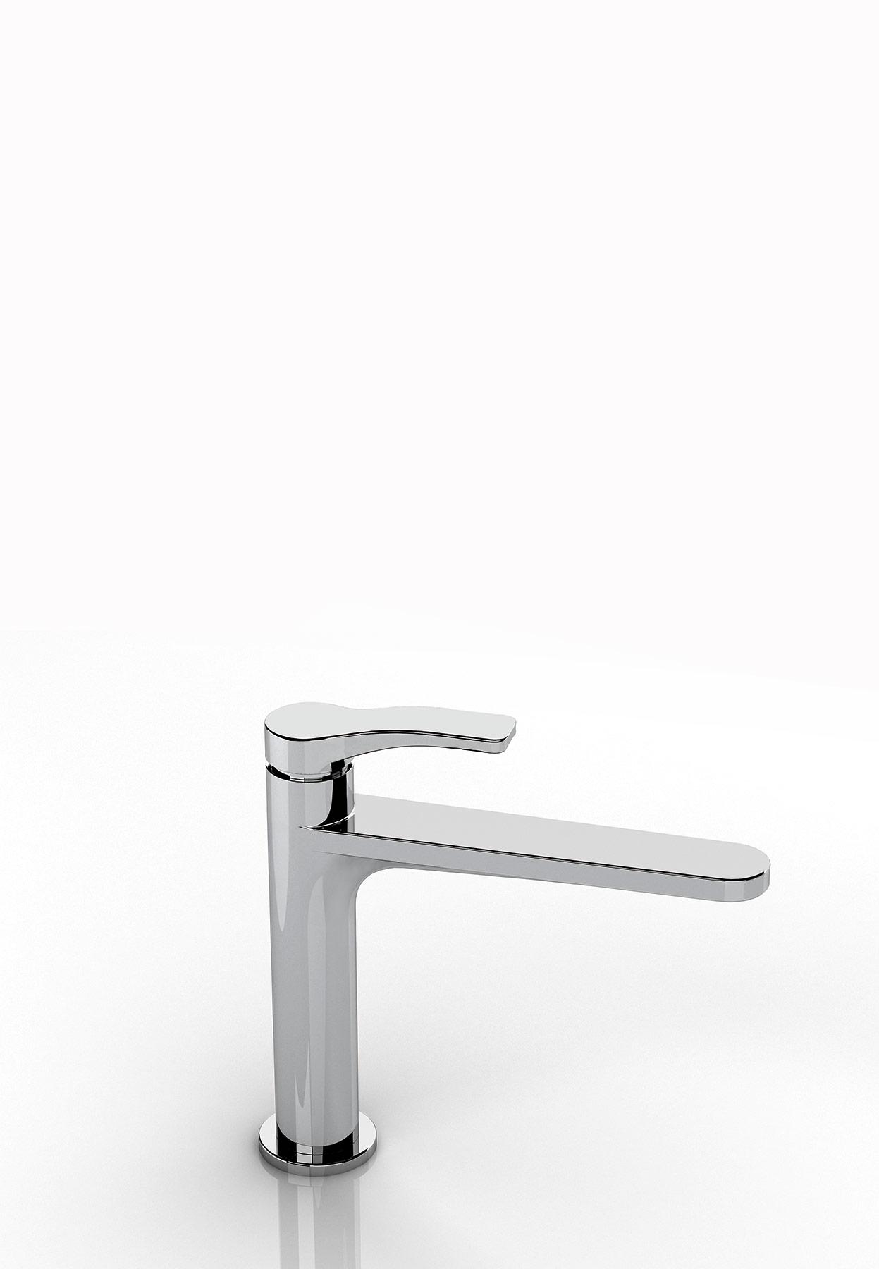 Transitional Lissoni Deck Mount Faucet