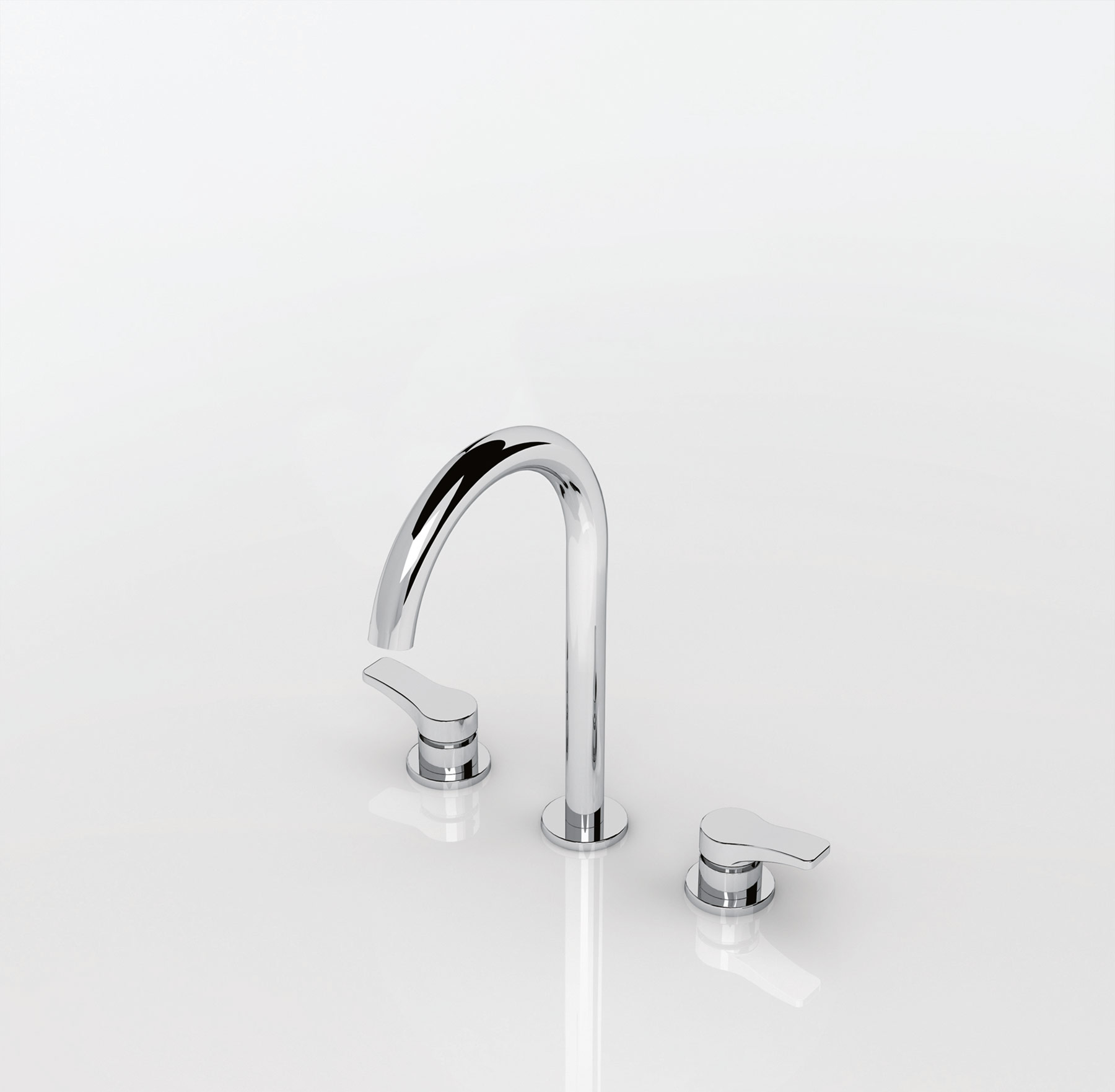 Transitional Lissoni Deck Mount Faucet