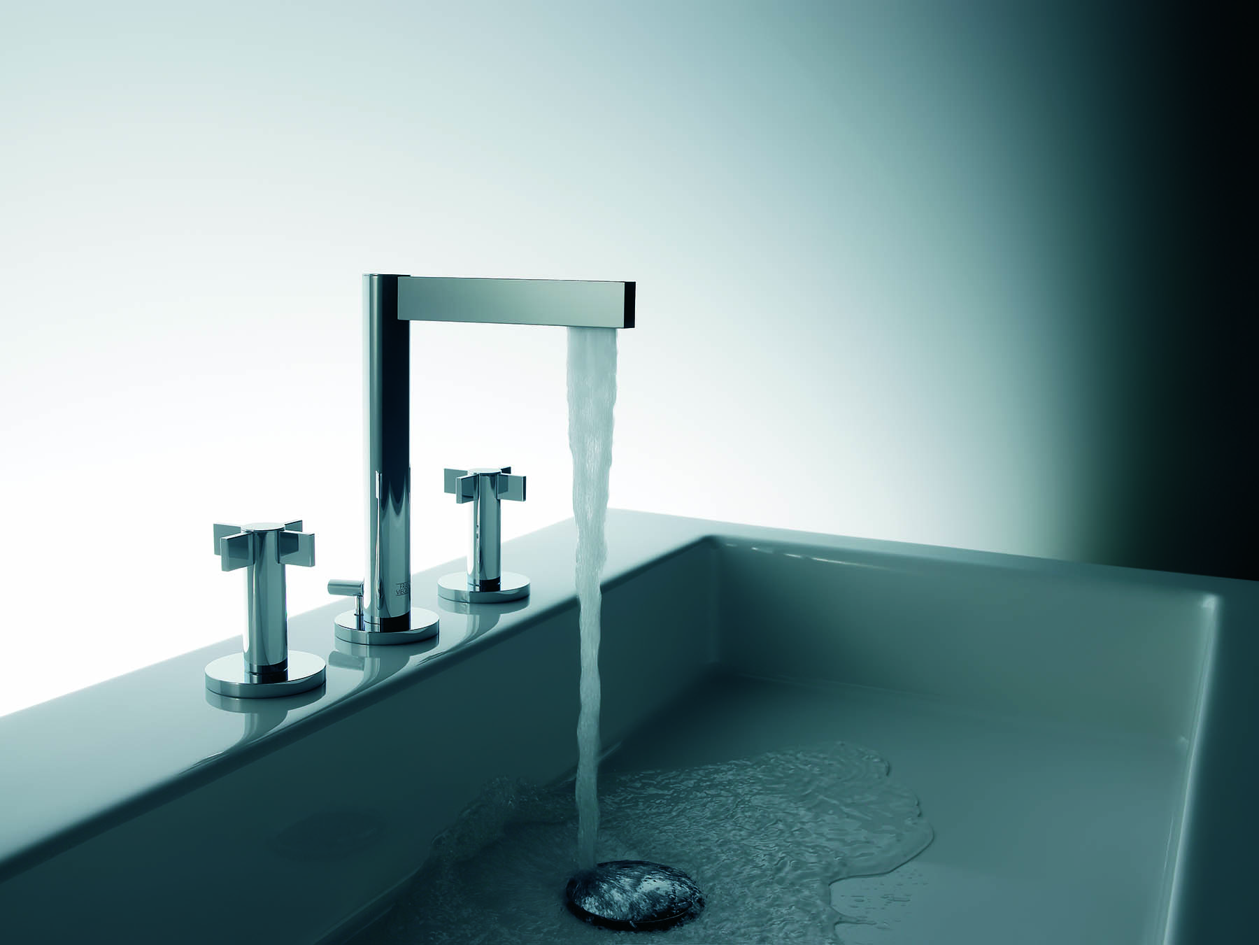 Modern Lollipop Deck Mount Faucet