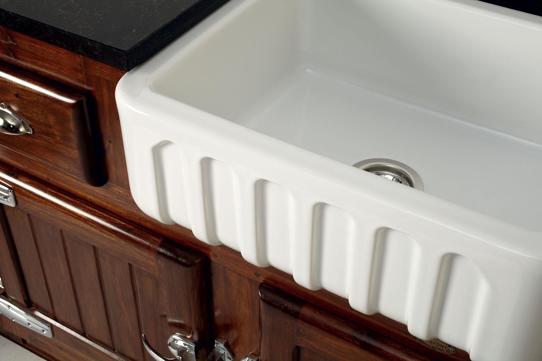 Transitional Louis I Farmhouse Kitchen Sink