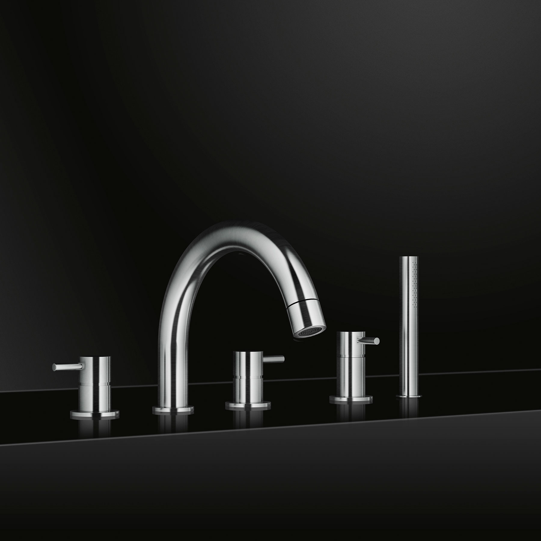 Modern Minimal Beauty Deck Mount Tub Filler Set