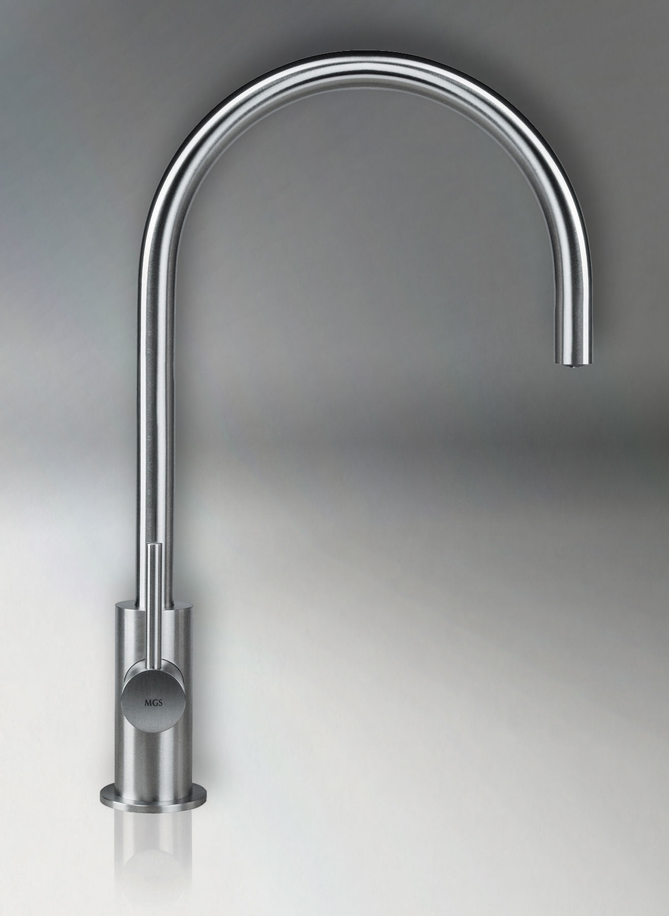 Transitional Spin_P Deck Mount Kitchen Faucet