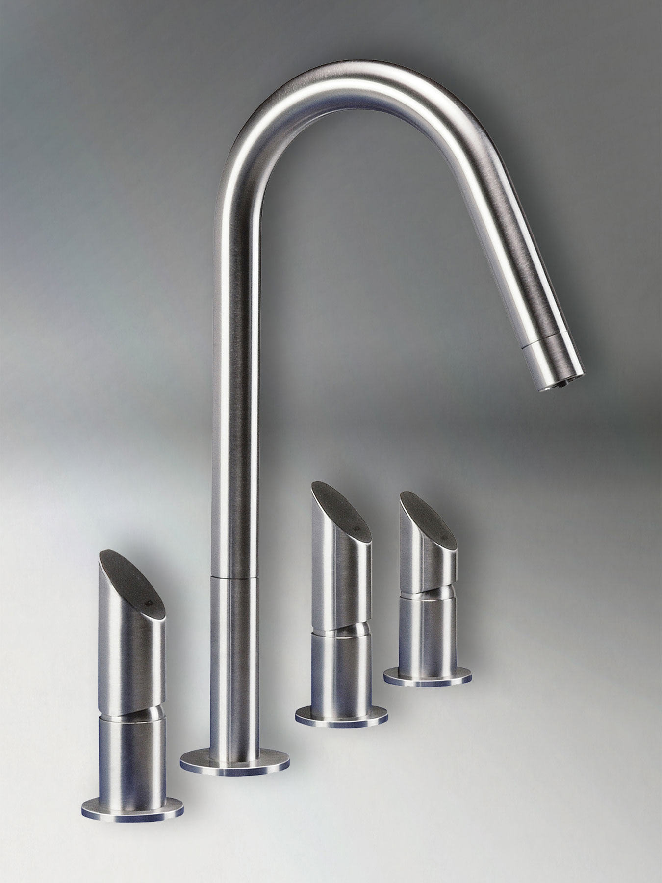 Contemporary T45DF Deck Mount Kitchen Faucet