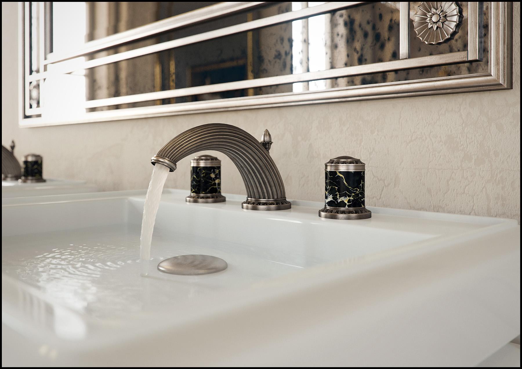 Transitional Malmaison Deck Mount Faucet