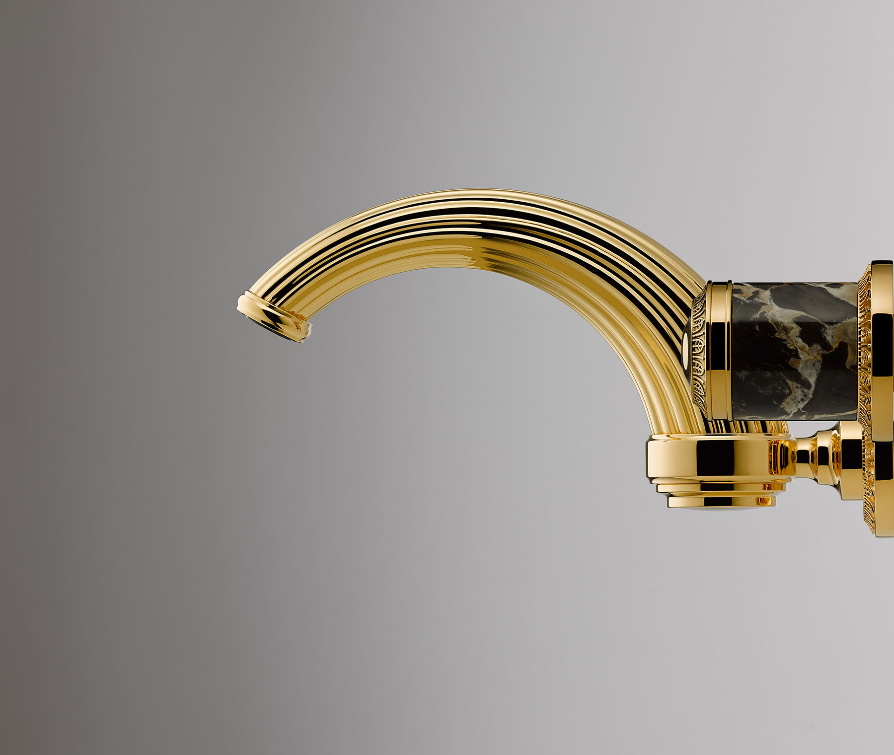 Transitional Malmaison Wall Mount Faucet