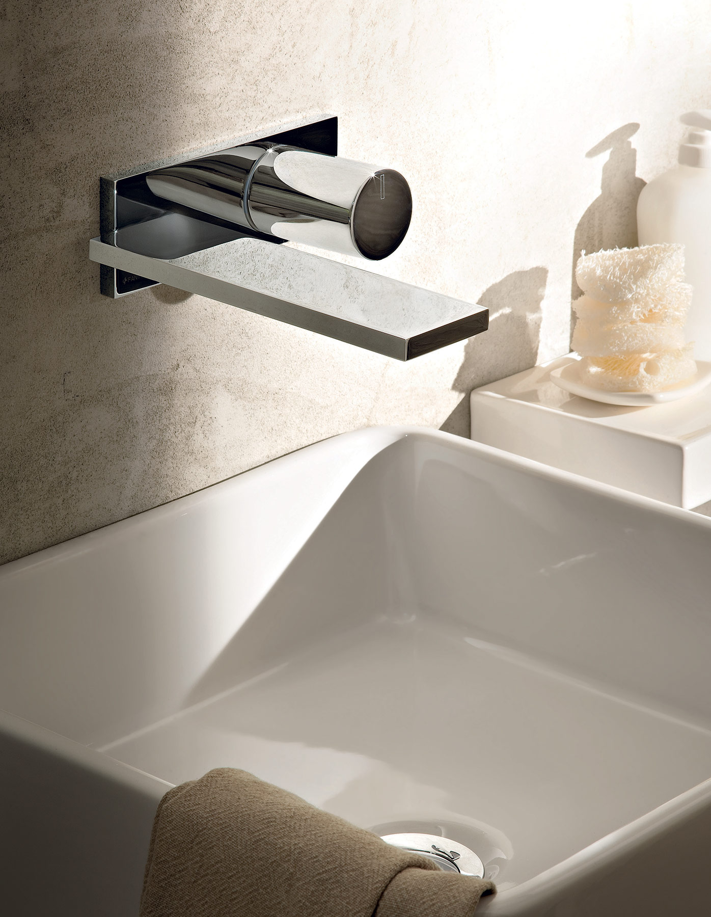 construction and in concealed contemporary brass filler on l the nickel control faucetupdate stylish rotunda design faucets vessel this spout your basin single waterfall fit full sink pagosa of size hole brushed simple with features wall faucet mount bathroom is modern for beauty satin perfect