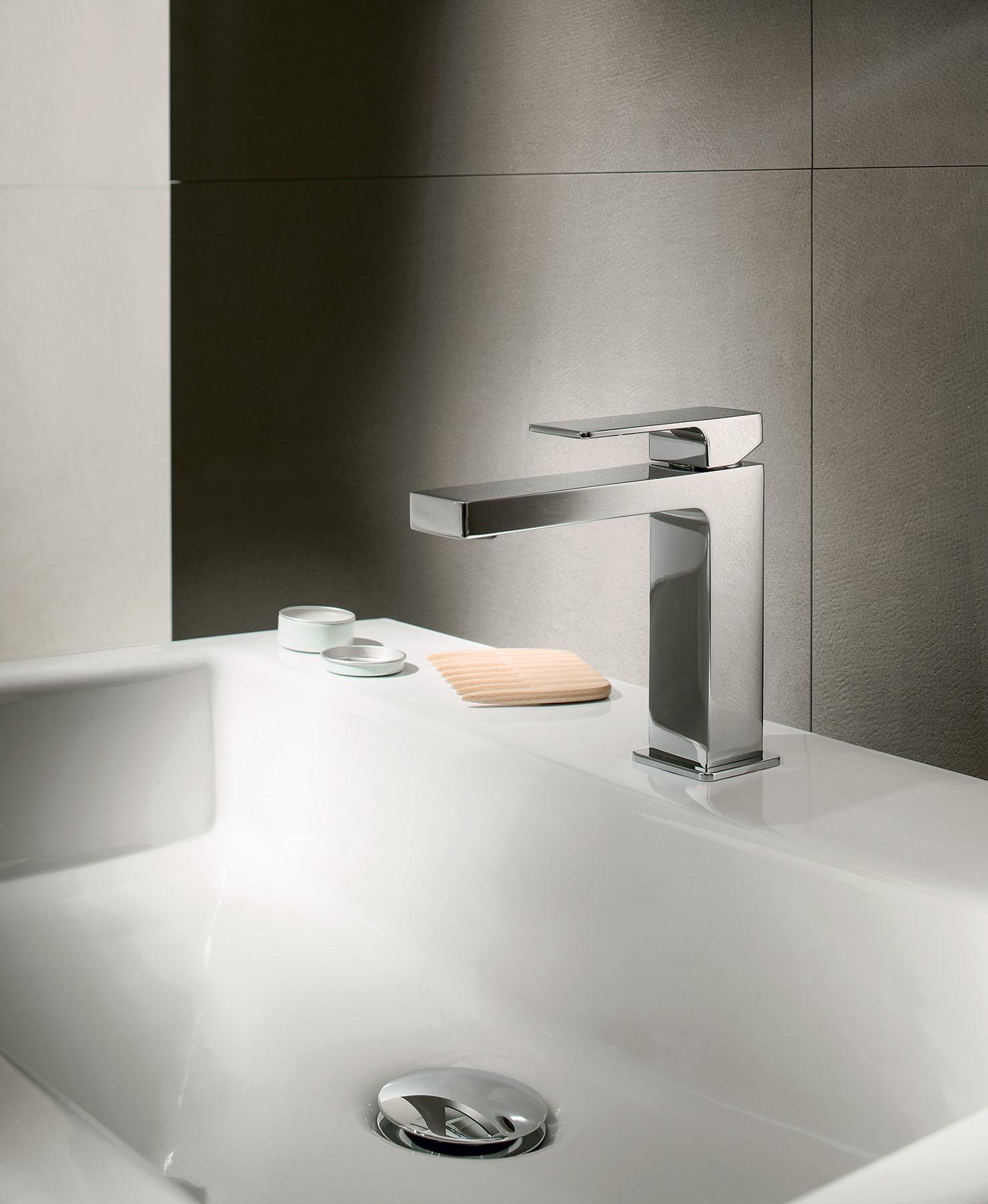 Modern Mint Deck Mount Faucet