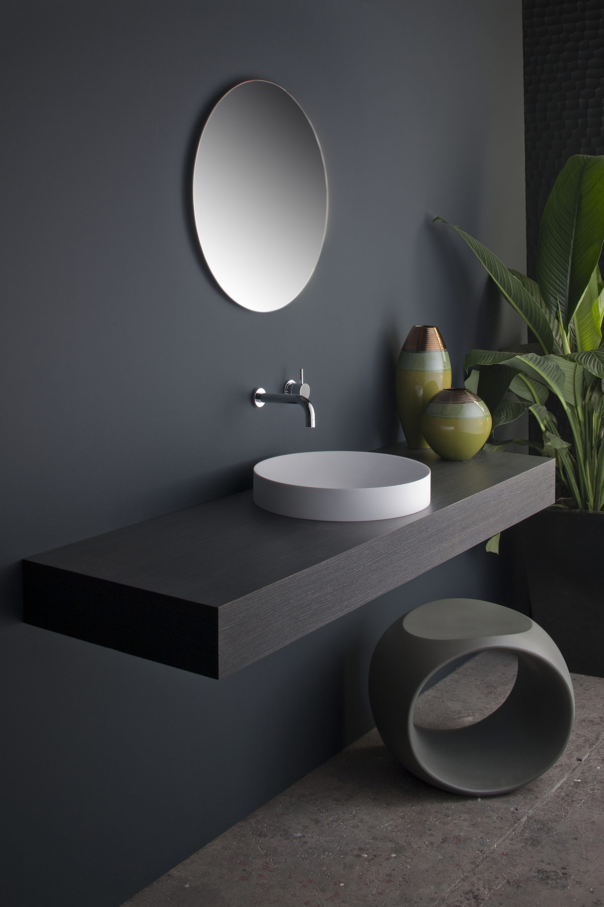 Transitional Mono Countertop Washbasin