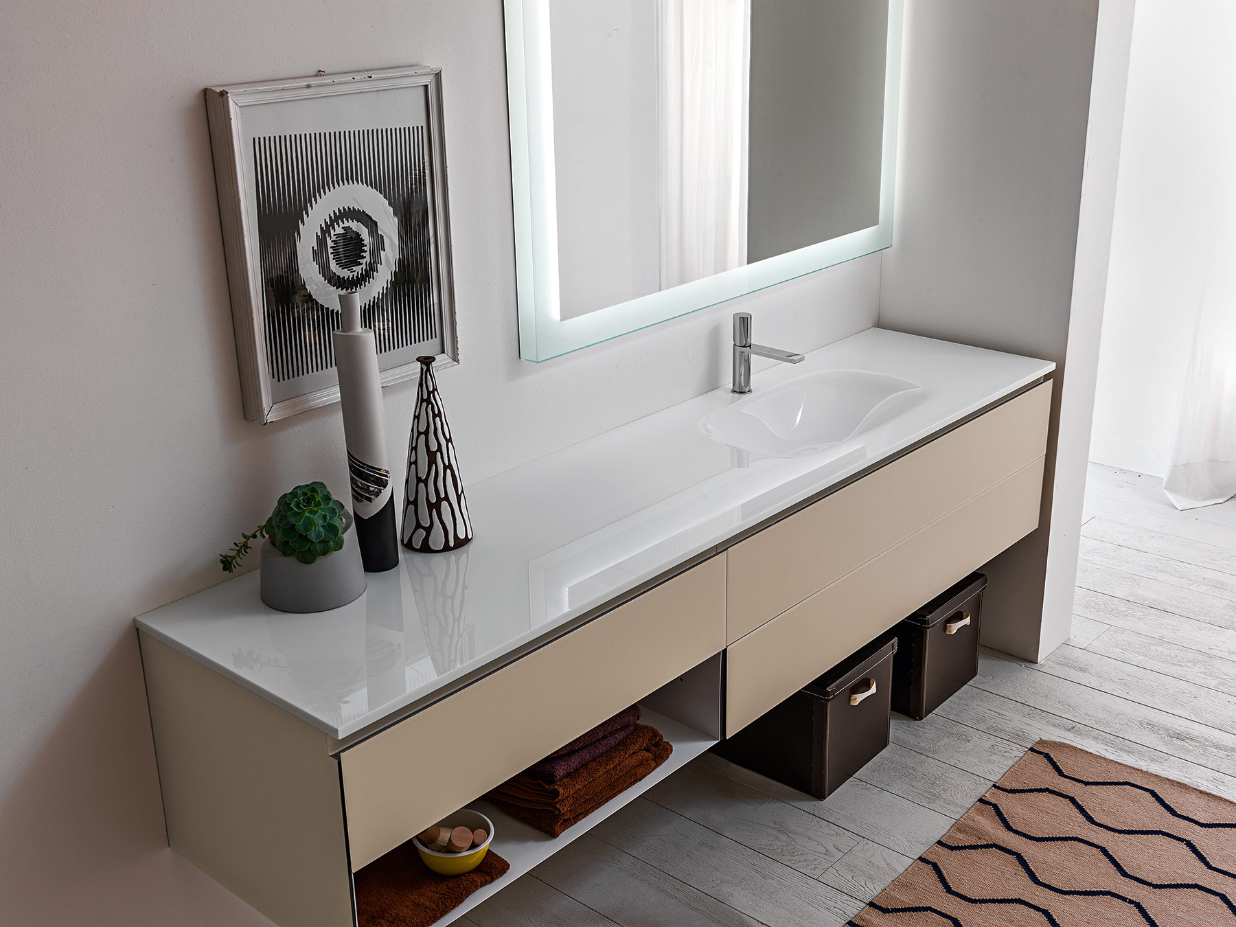 Contemporary Monolite 2.0 Wall Mount Vanity Unit
