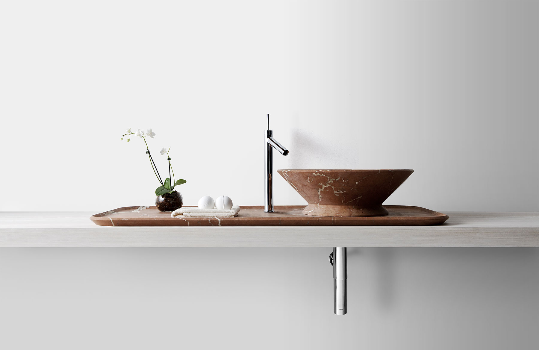 Modern Nabhi Countertop Mount Washbasin Set