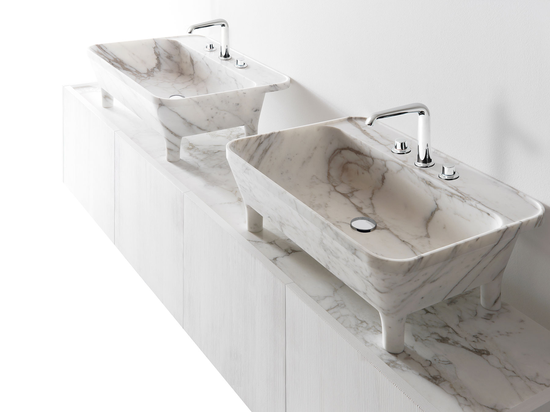 Transitional Nabhi Floor Mount Vanity Unit