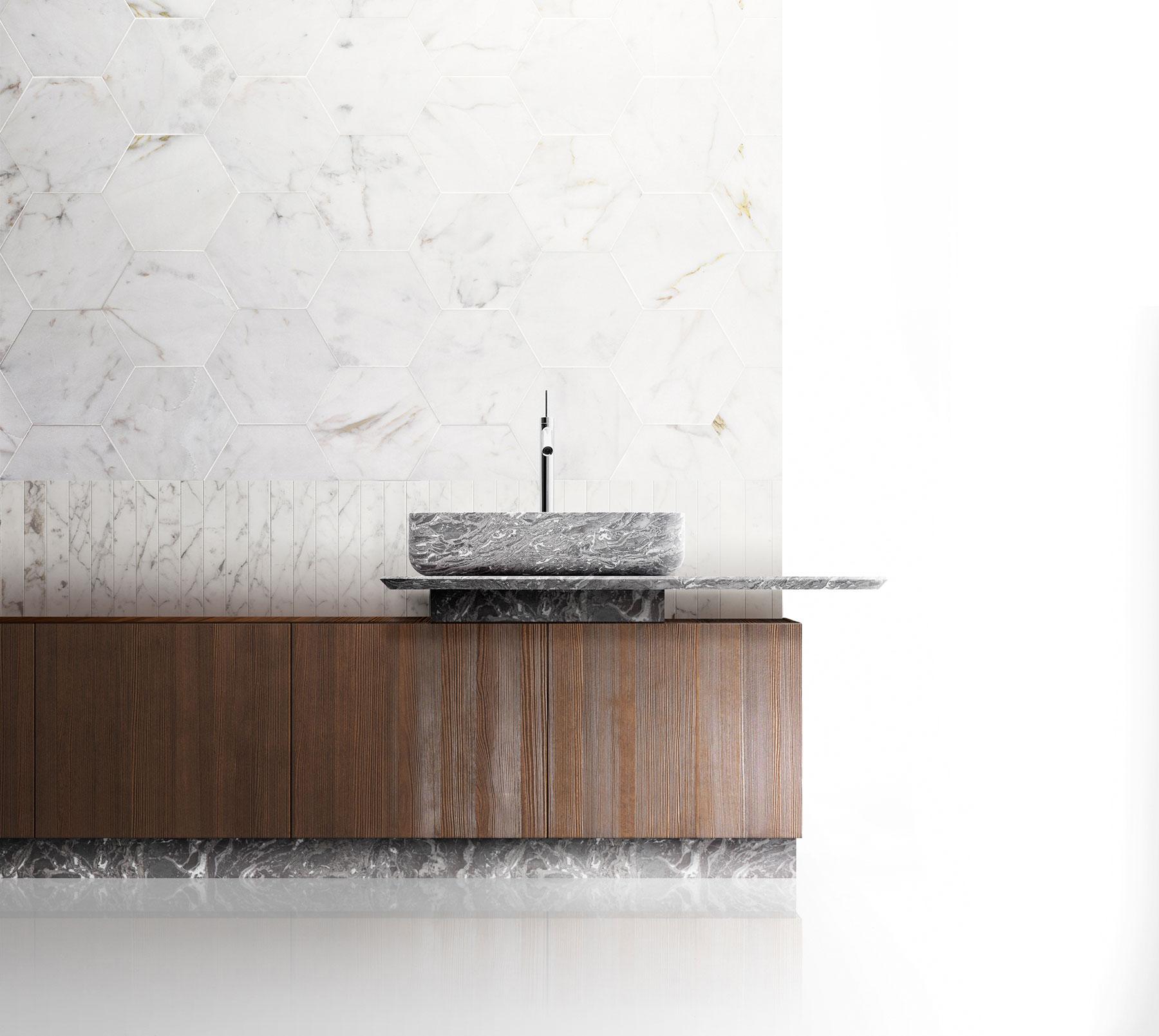 Modern Nabhi Floor Mount Vanity Unit
