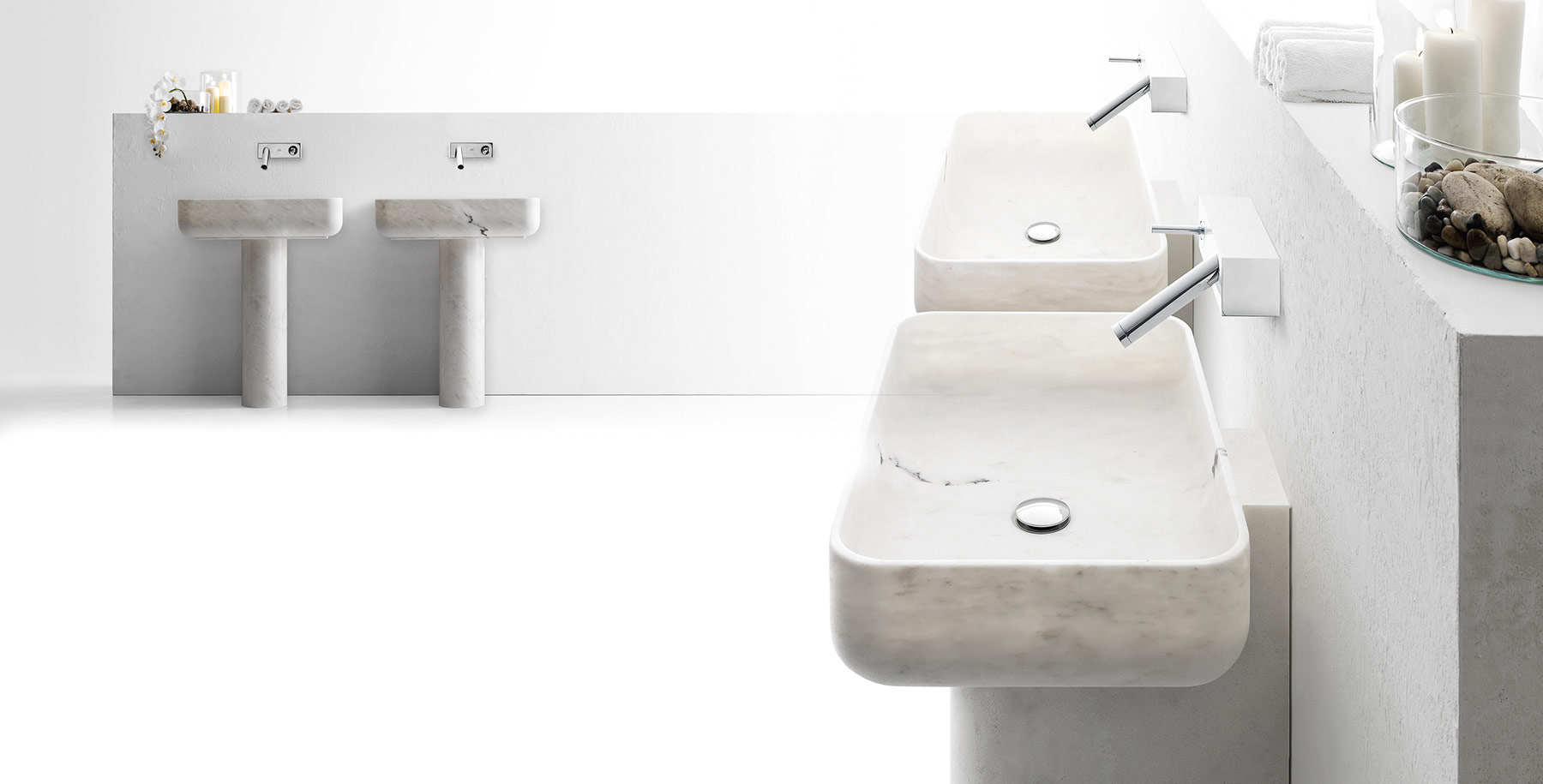Transitional Nabhi Floor Mount Washbasin