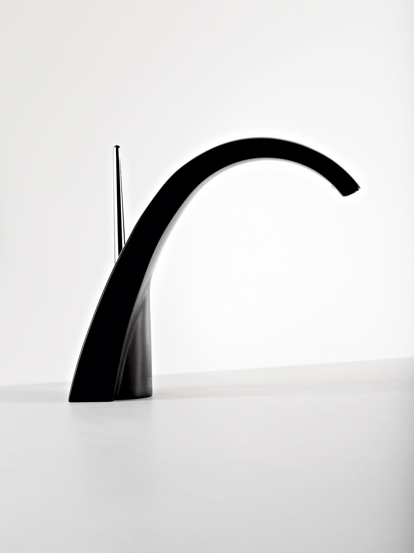 Contemporary New Wave Deck Mount Faucet