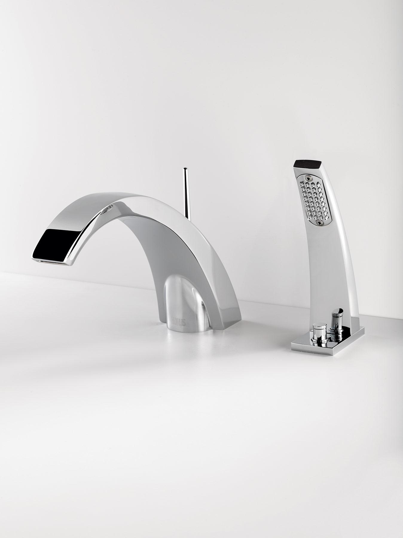 Modern New Wave Deck Mount Tub Filler