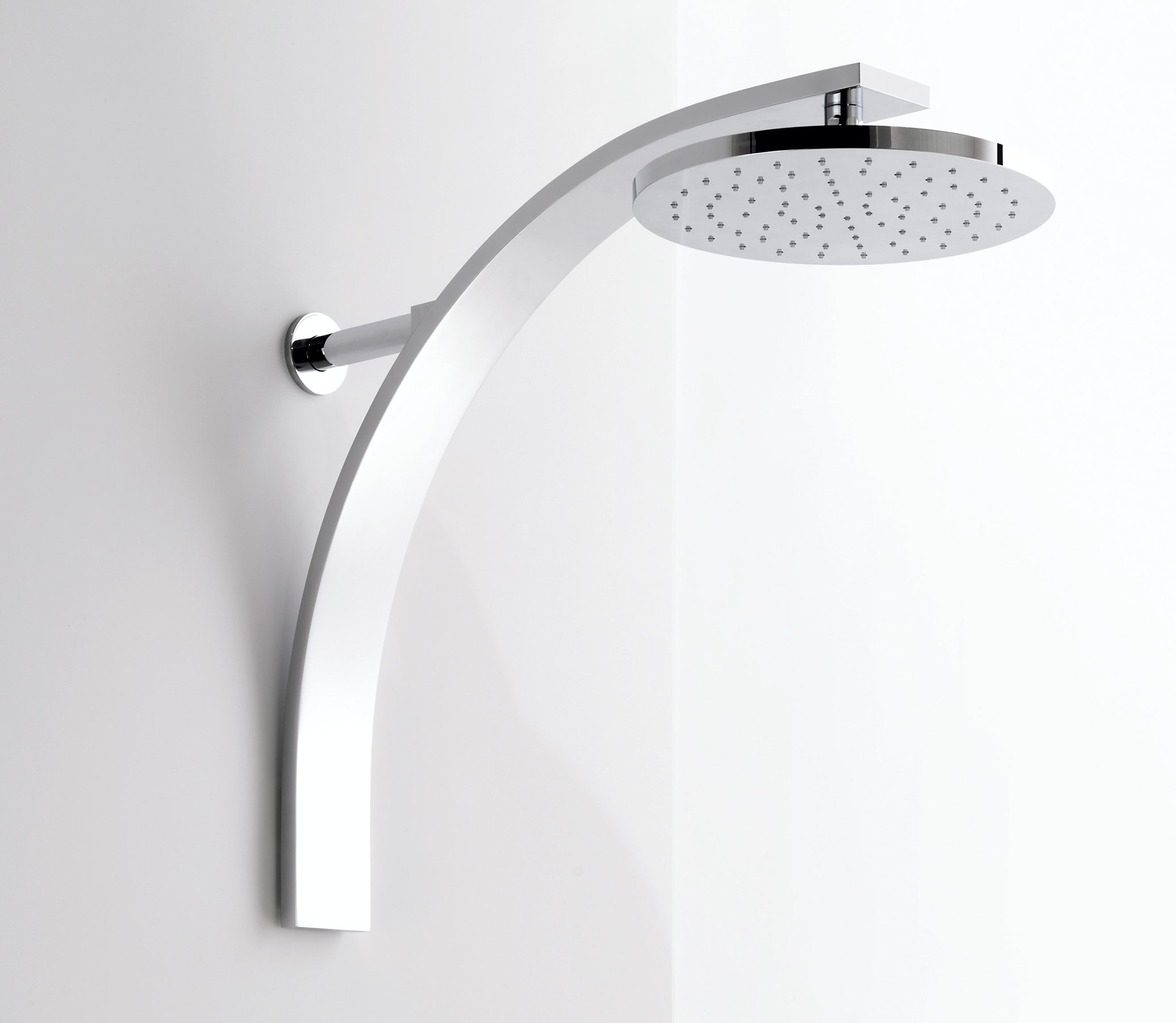 Contemporary New Wave Wall Mount Shower Head